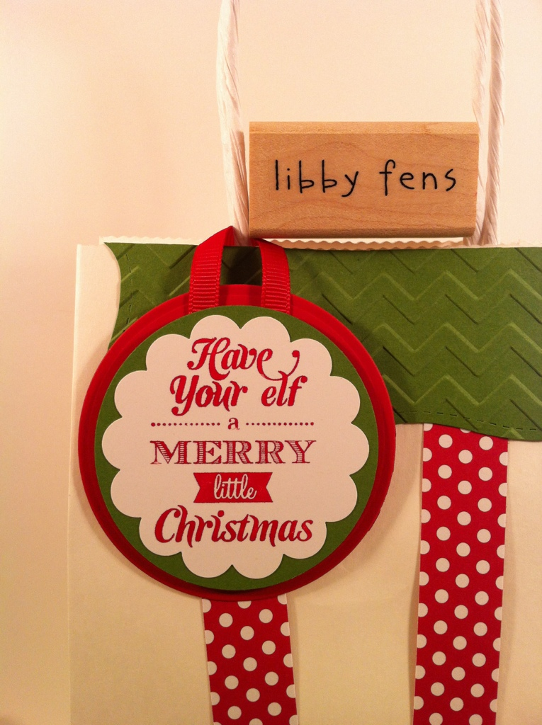 libbystamps, Elf Bag, Christmas
