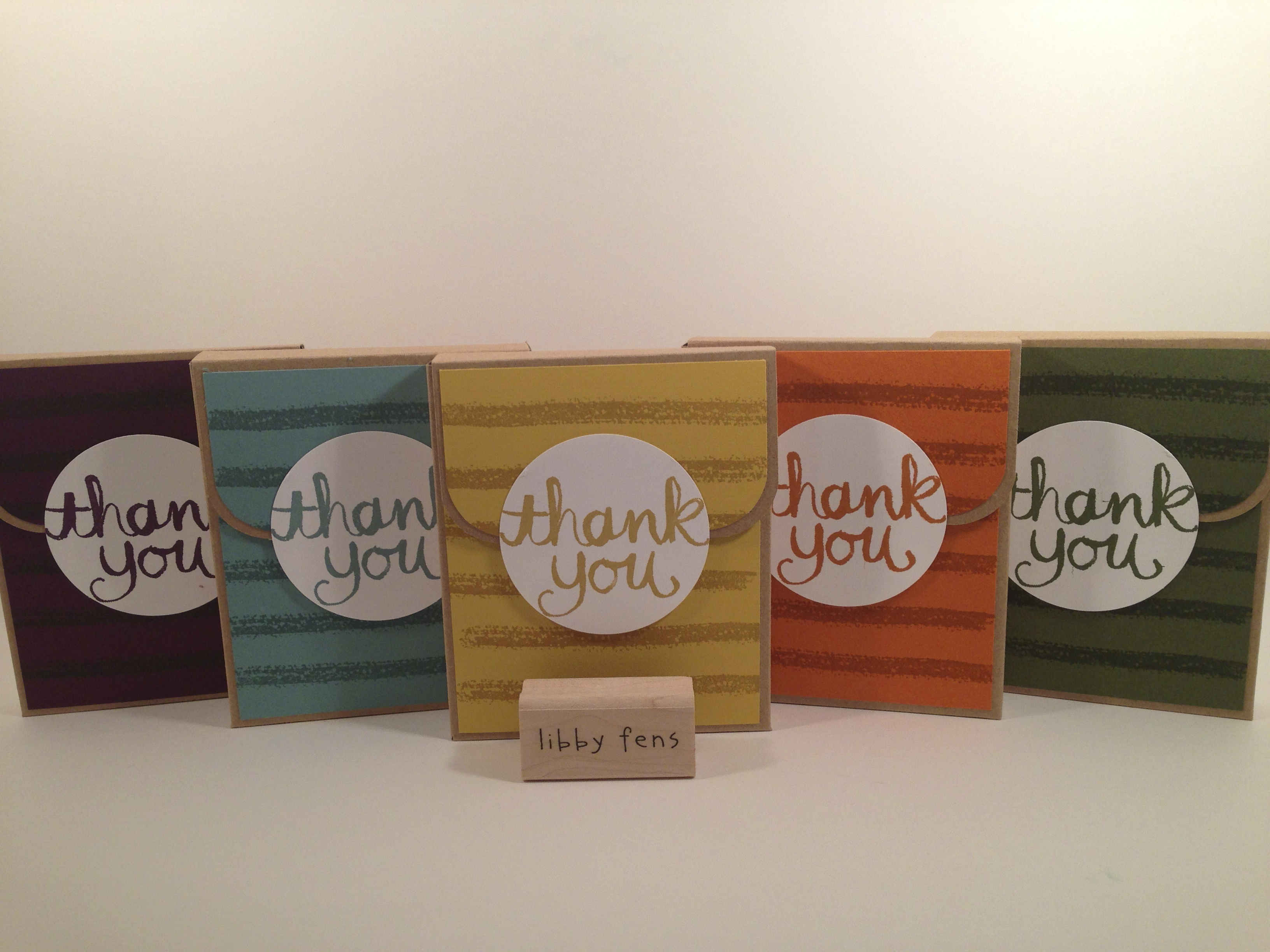 libbystamps, Watercolor Thank You, Work of Art, 2014-2015 In Color, Stampin Up