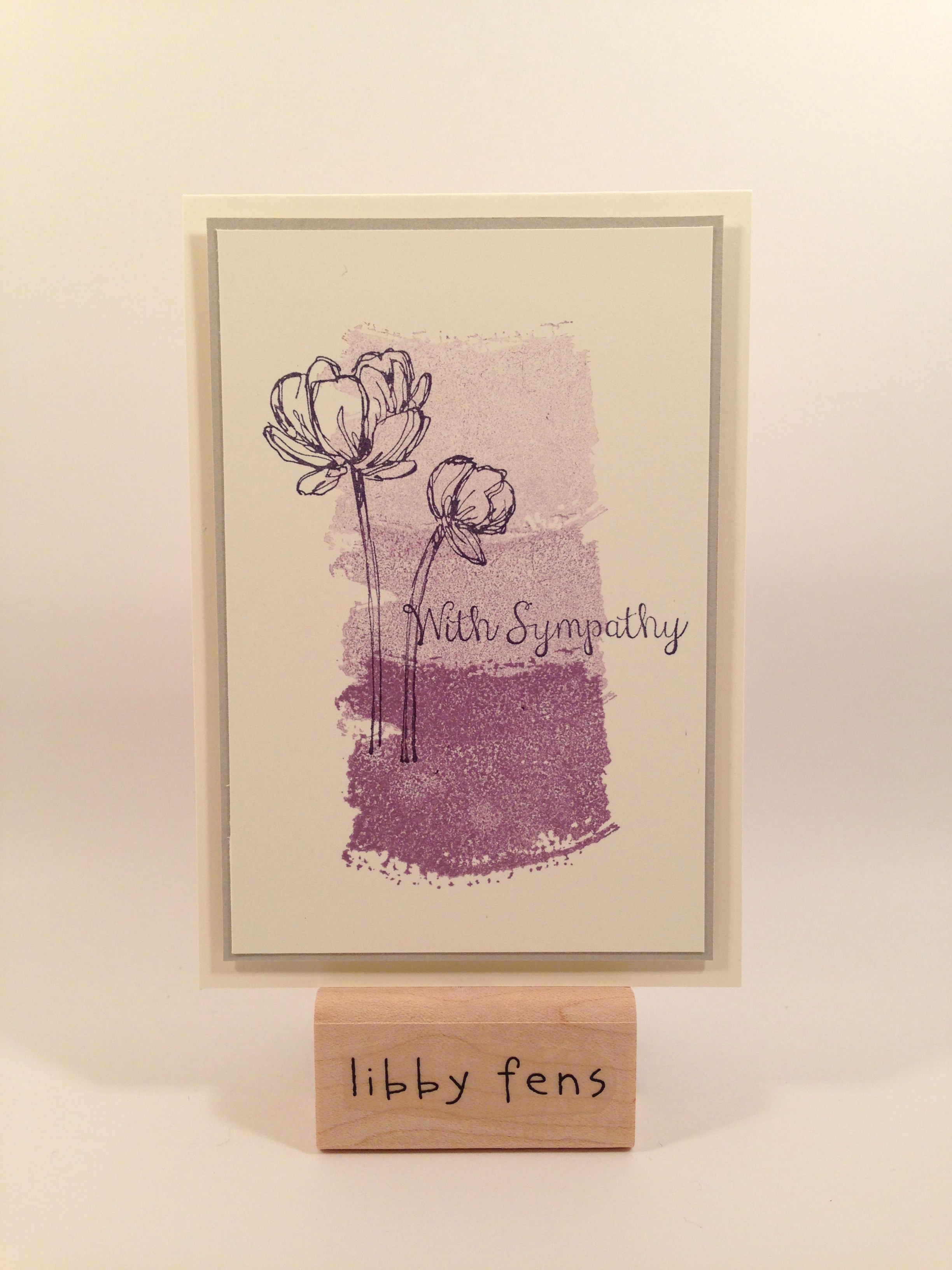 libbystamps, sympathy, Bloom with Hope, Work of Art, note card