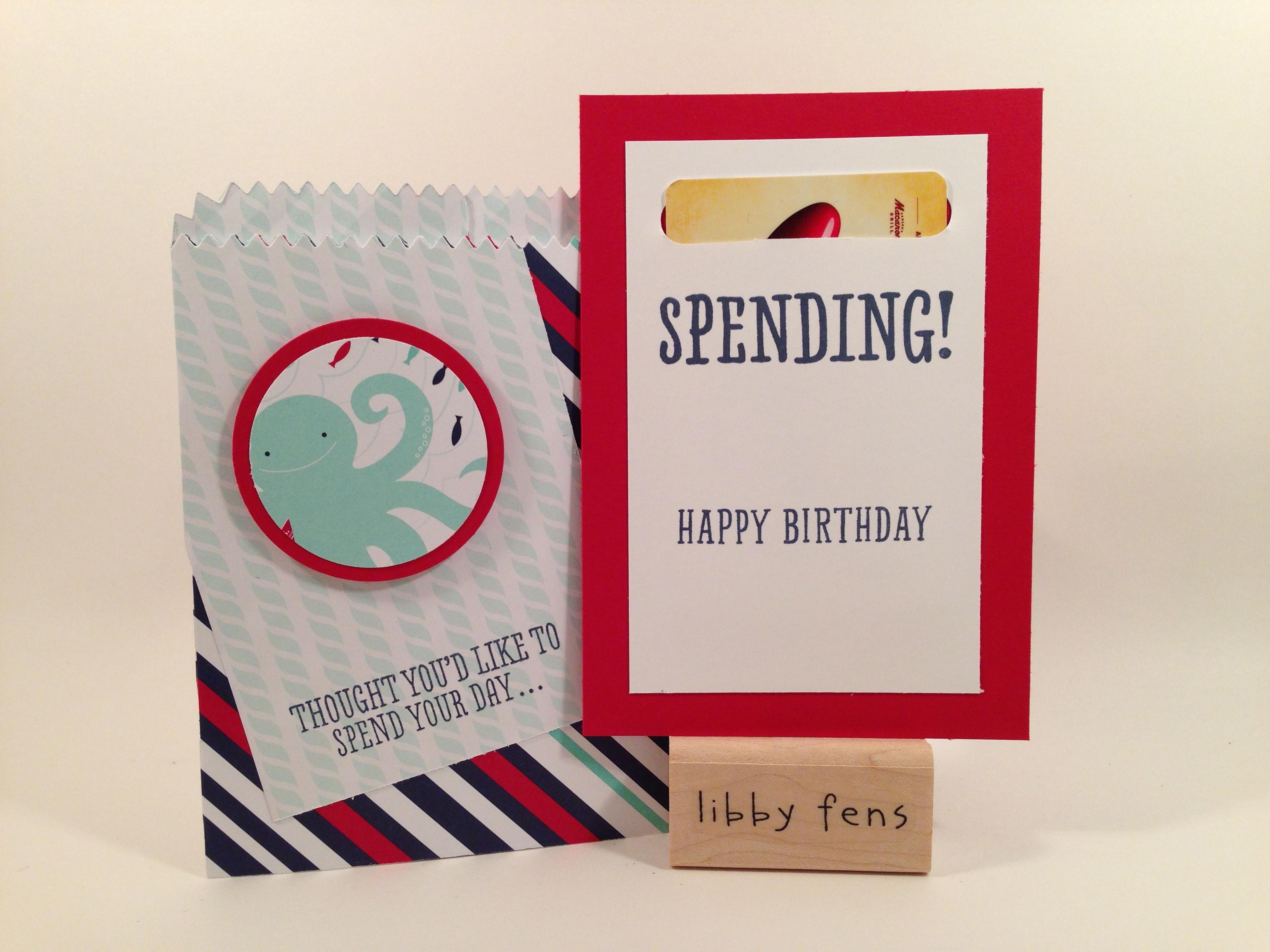 libbystamps, B.Y.O.P., Maritime DSP, Mini Treat Bag Thinlit, gift card holder