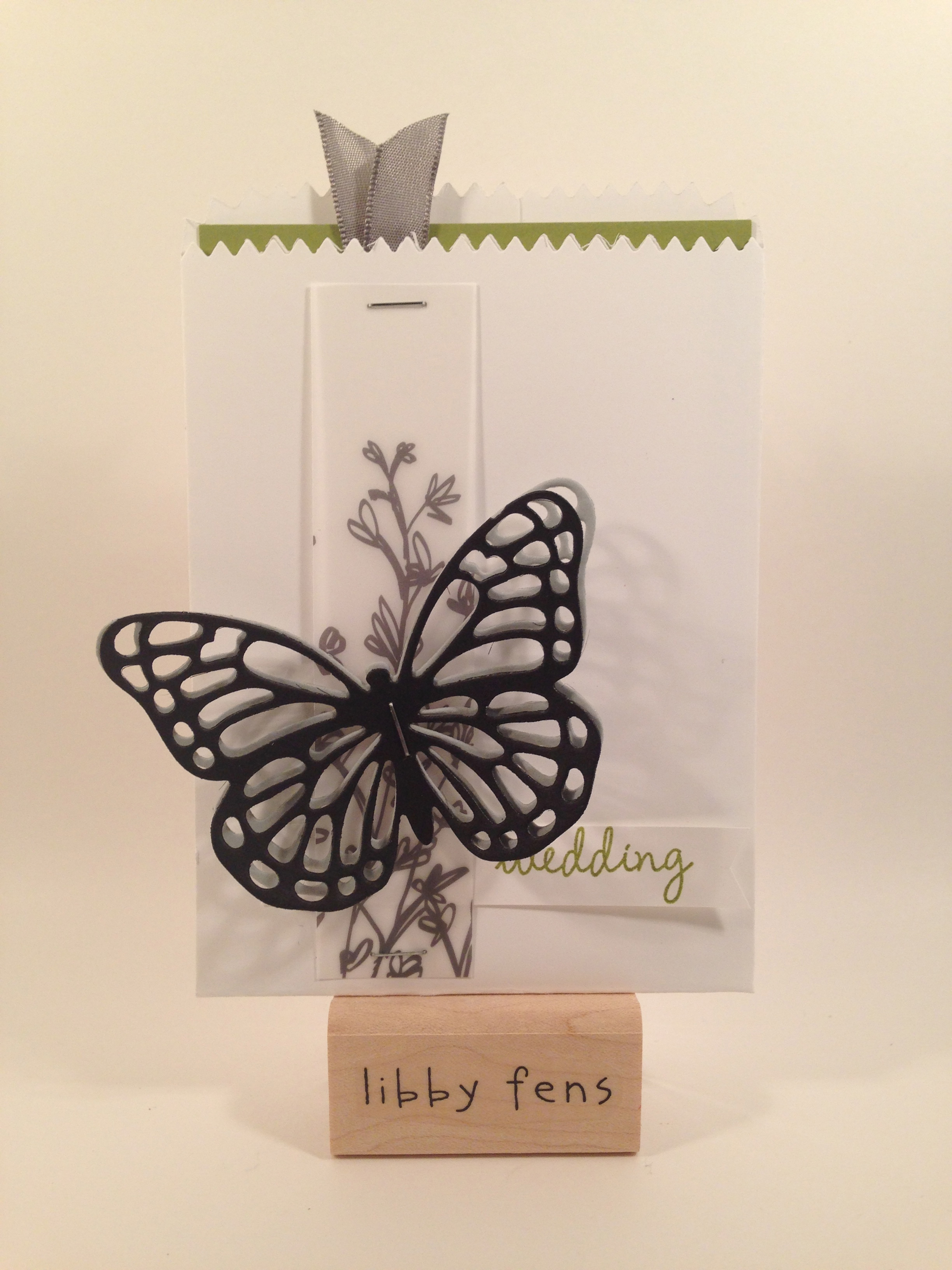 libbystamps, Mini Treat Bag Thinlit, Butterflies Thinlits, Celebrate Today, Nature's Perfection, Sheer Perfection Vellum, Banner Punch, Handheld  Stapler, Sale-A-Bration,
