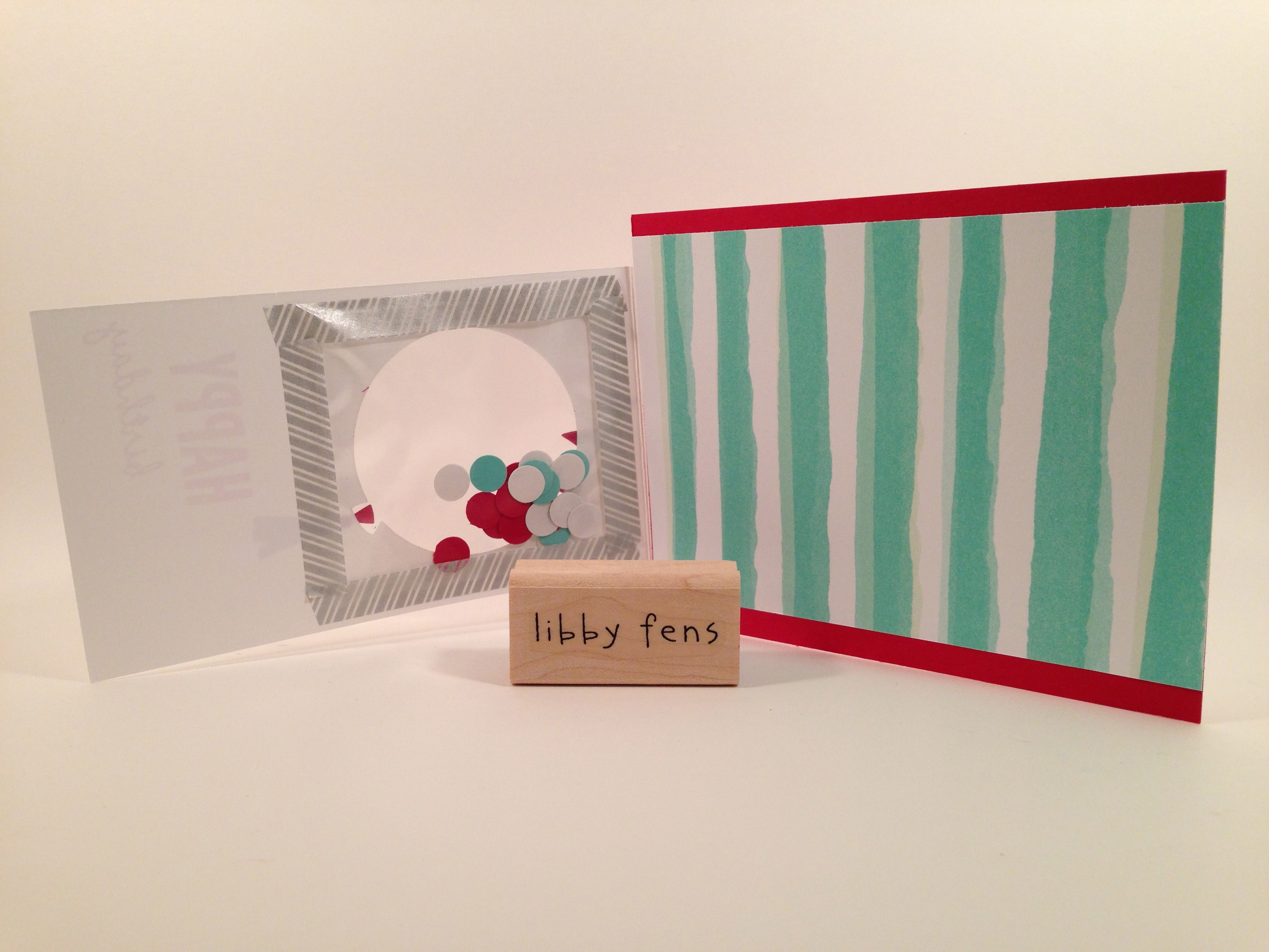 libbystamps, Stampin' Up, shaker card, Celebrate Today, Balloon Framelits, Best Day Ever DSP, Sale-a-Bration, fold over card