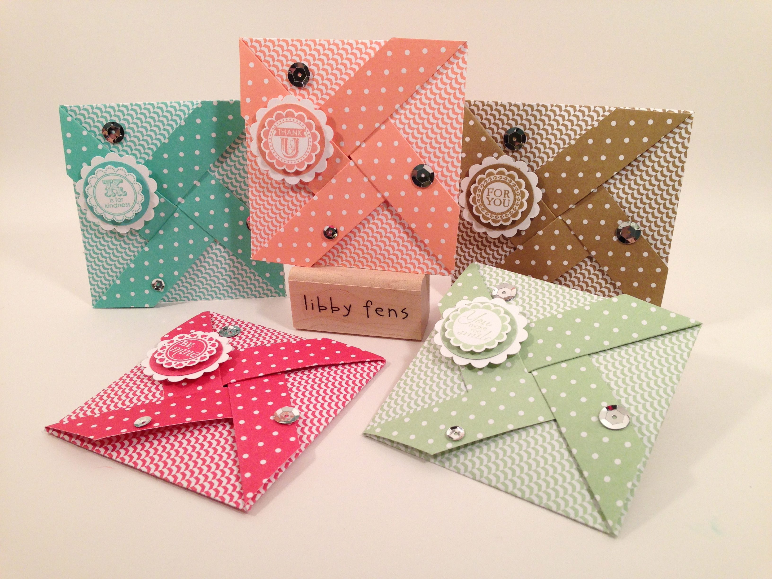libbystamps, Stampin' Up, pinwheel card, A Round Array, 2013-2015 In Color Paper Stack, scallop circle punch,  Frosted Sequins