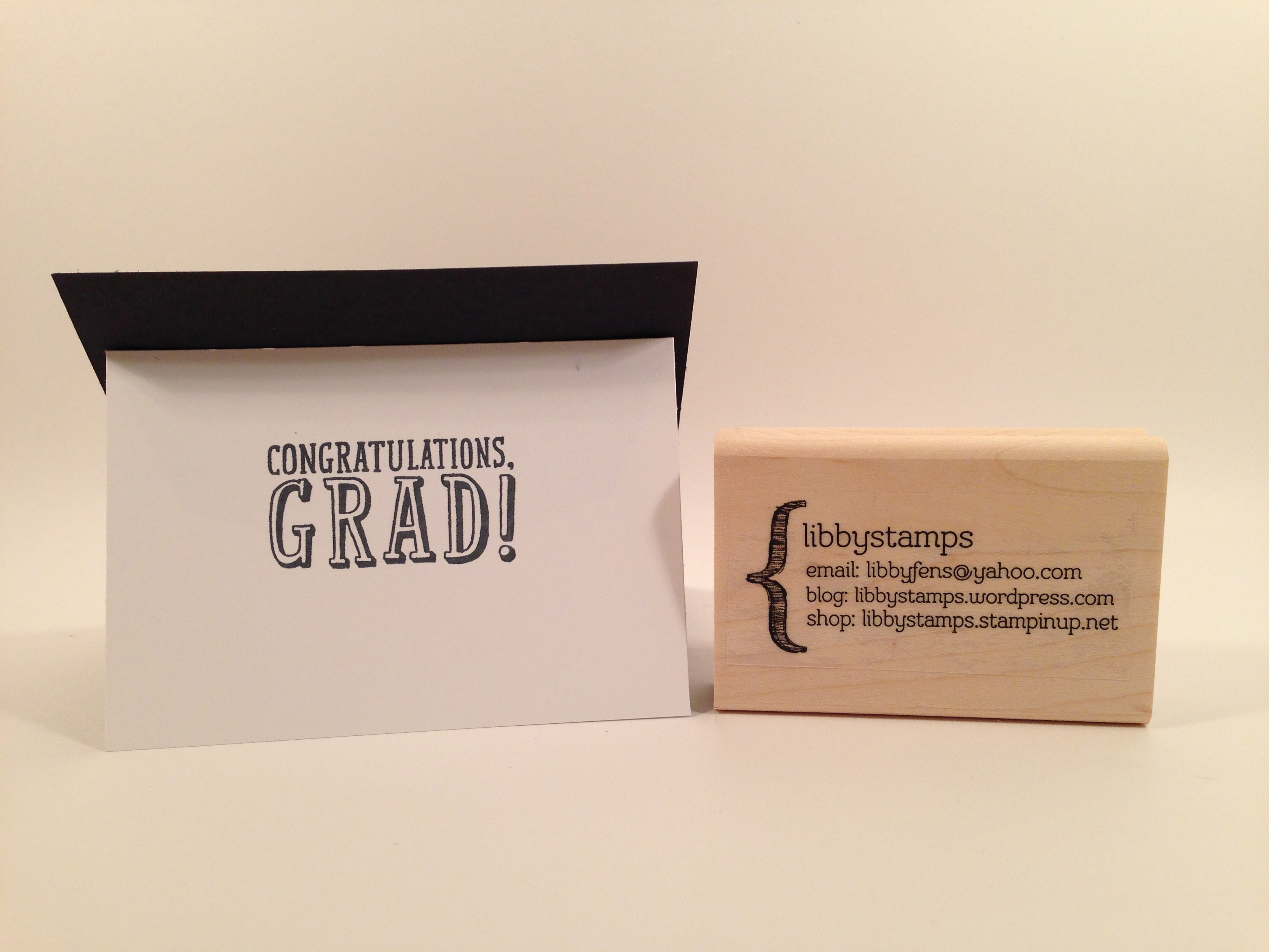 libbystamps, Stampin' Up, TGIFC03, B.Y.O.P. Stamp Set, Gift Card Envelope  & Trims Thinlits, Graduation  Card