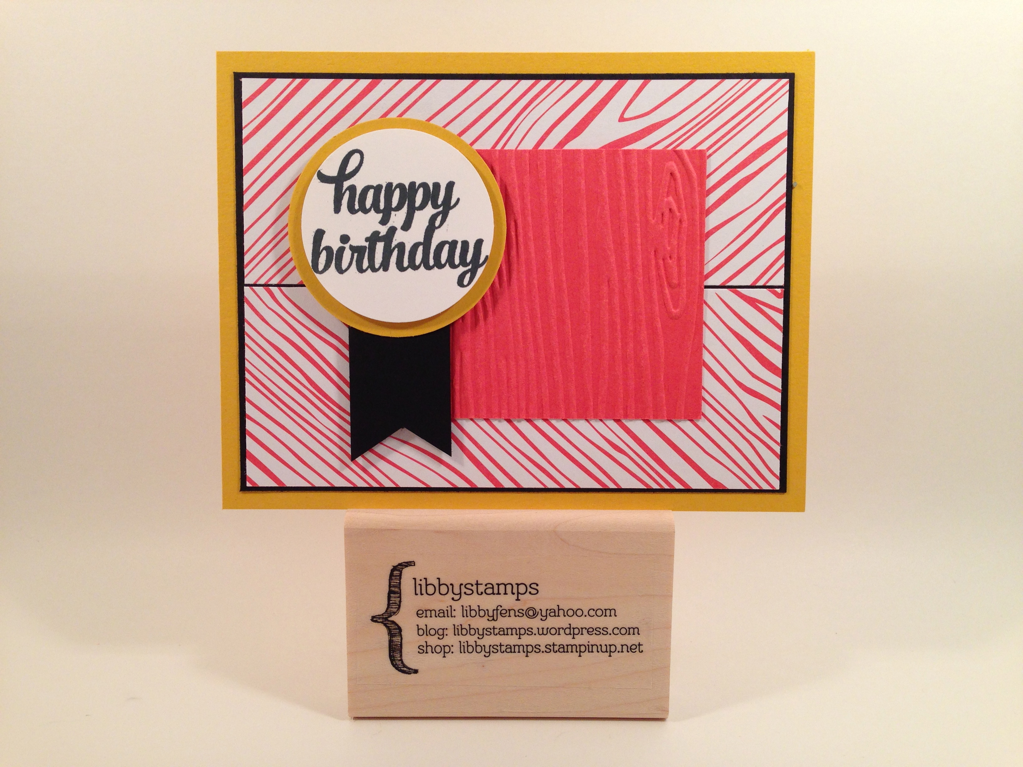 libbystamps, Stampin' Up, stampinup, CCMC364, MS Sketch-081, Tin of Cards Stamp Set, 2015-2017 In Color Envelope Liner Paper, Woodgrain Embossing Folder, Banner Triple Punch,