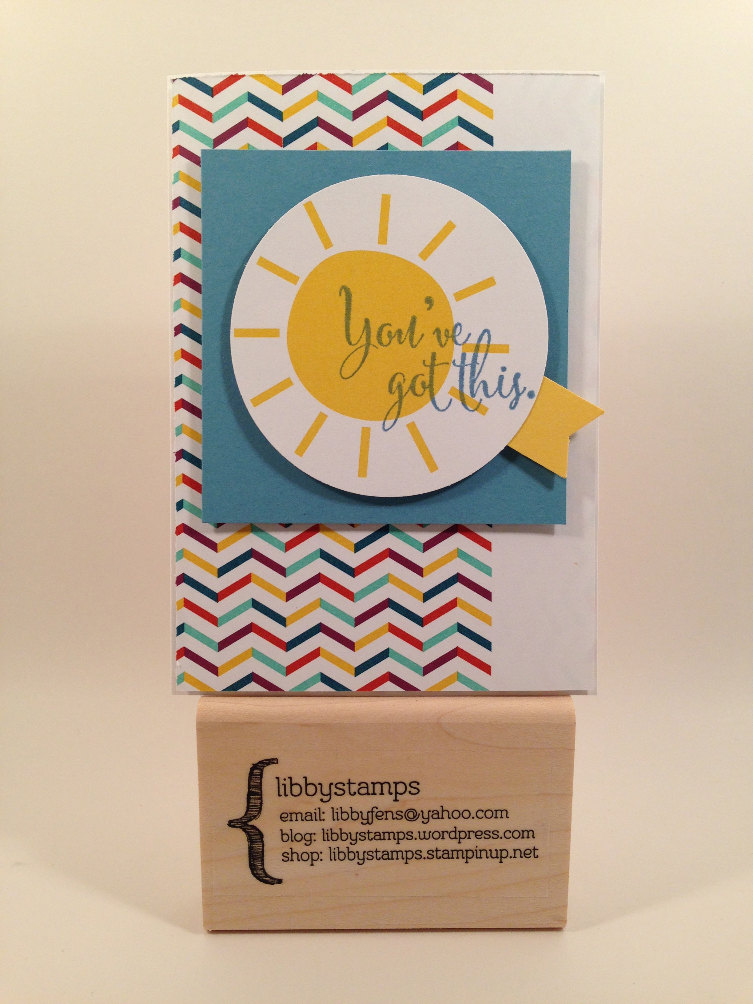 libbystamps, Stampin' Up, Sale-a-Bration 2015, You've Got This Stamp Set, This Day Project Life Mini Card Collection,