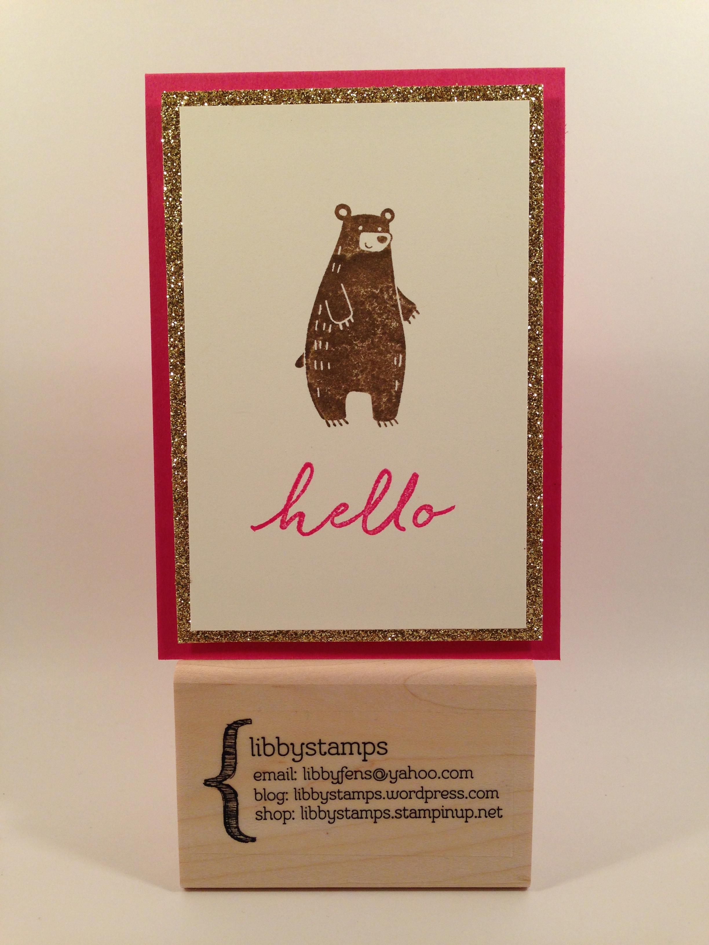 libbystamps, Stampin' Up, Thankful Forest Friends, Watercolor Wishes Card Kit