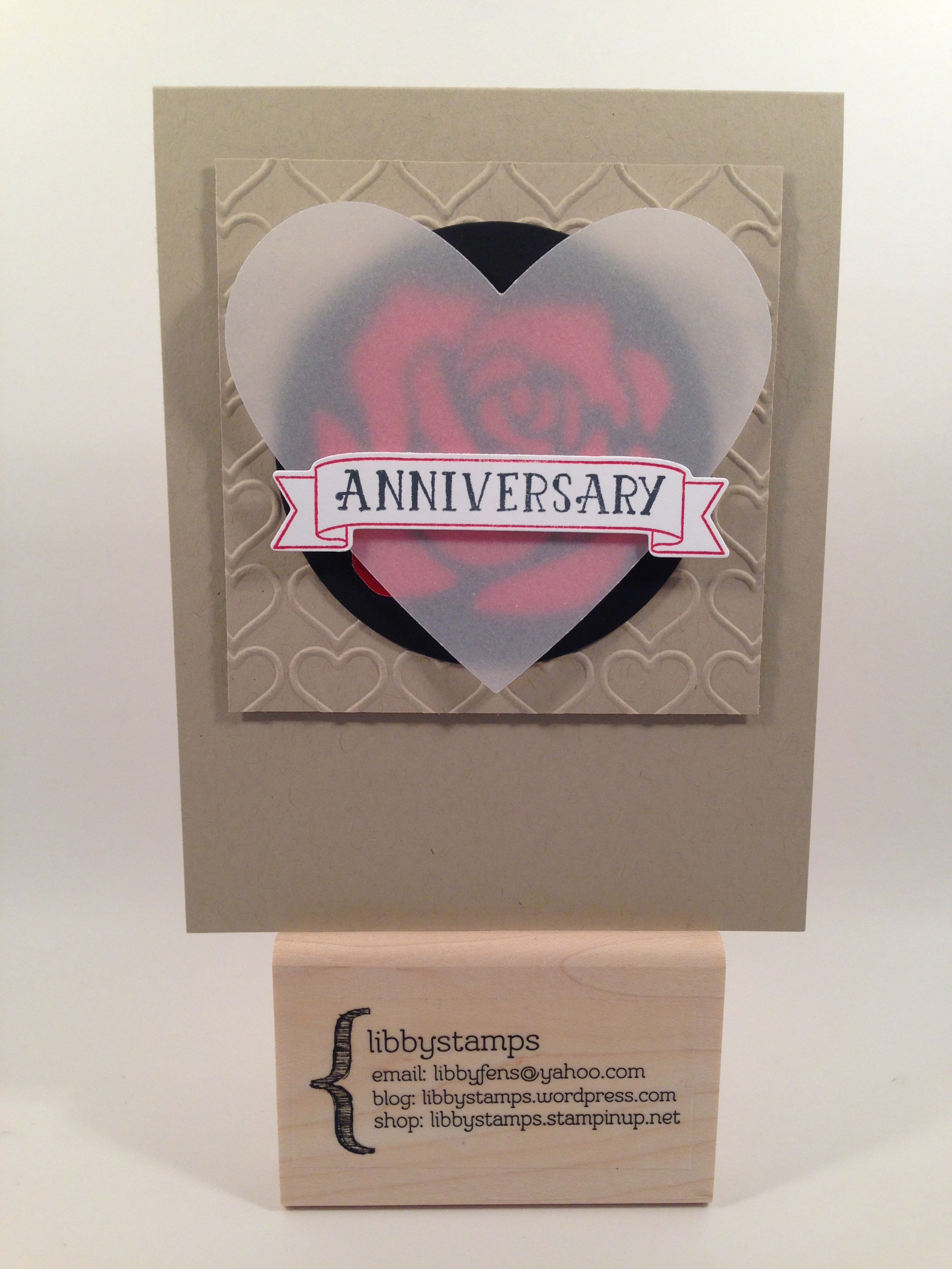 libbystamps, Stampin Up, Number of Years, Large Numbers Framelits, Happy Heart EF, Red Foil Sheets, Rose Garden Thinlits, Circles Framelits, Heart Framelits, SSINKC30