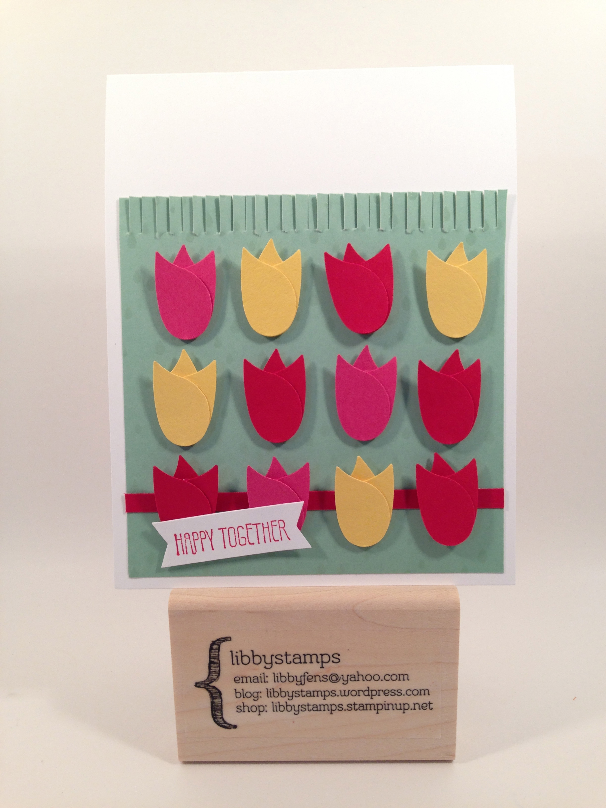 libbystamps, Stampin Up, And Many More, Bird Builder Punch, Color Me Irresistible Specialty DSP, Fringe Scissors, Tulips, CCMC393
