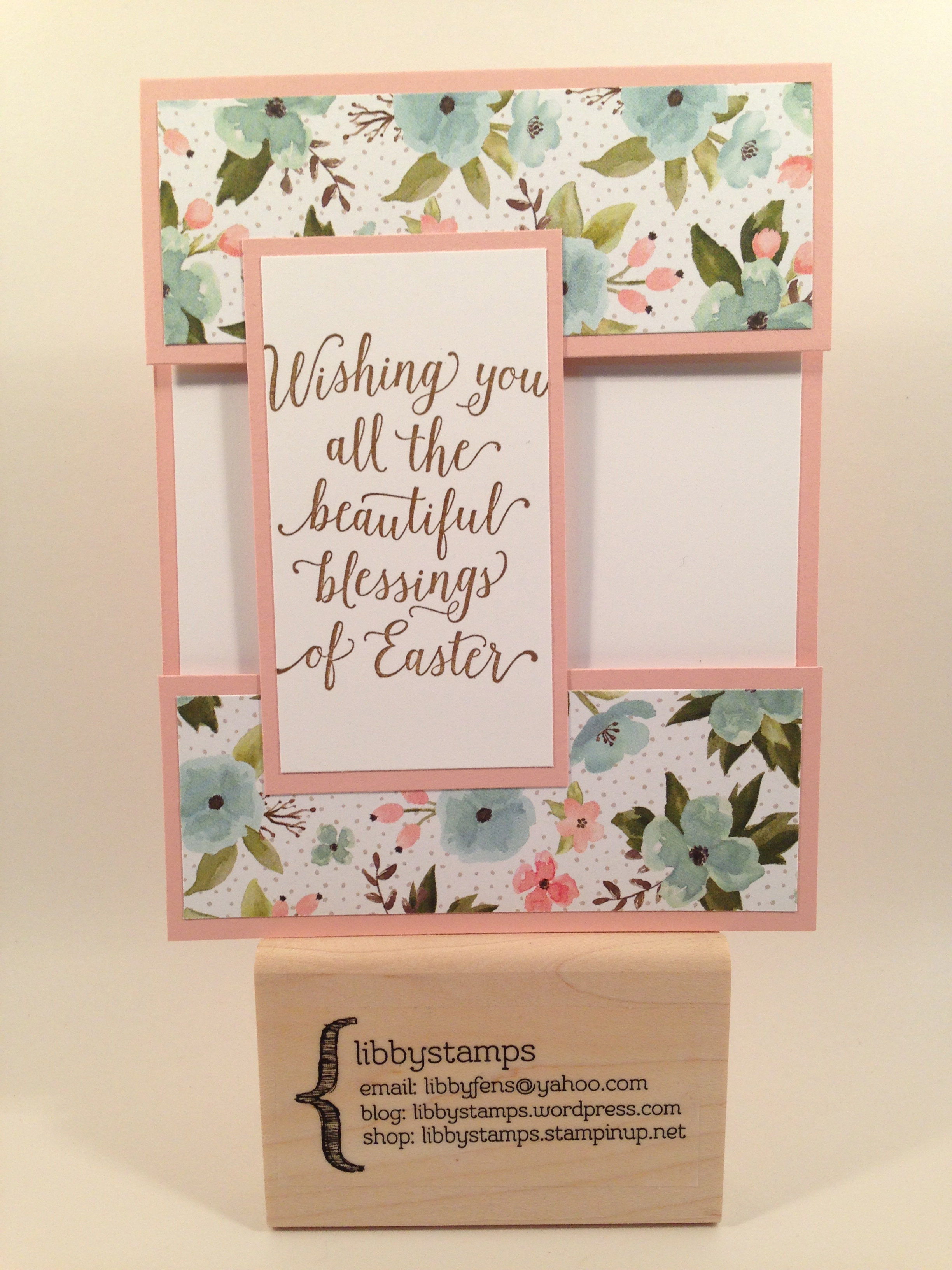 libbystamps, stampin up, Suite Saying, Birthday Bouquet DSP, Easter, Cut Away Card