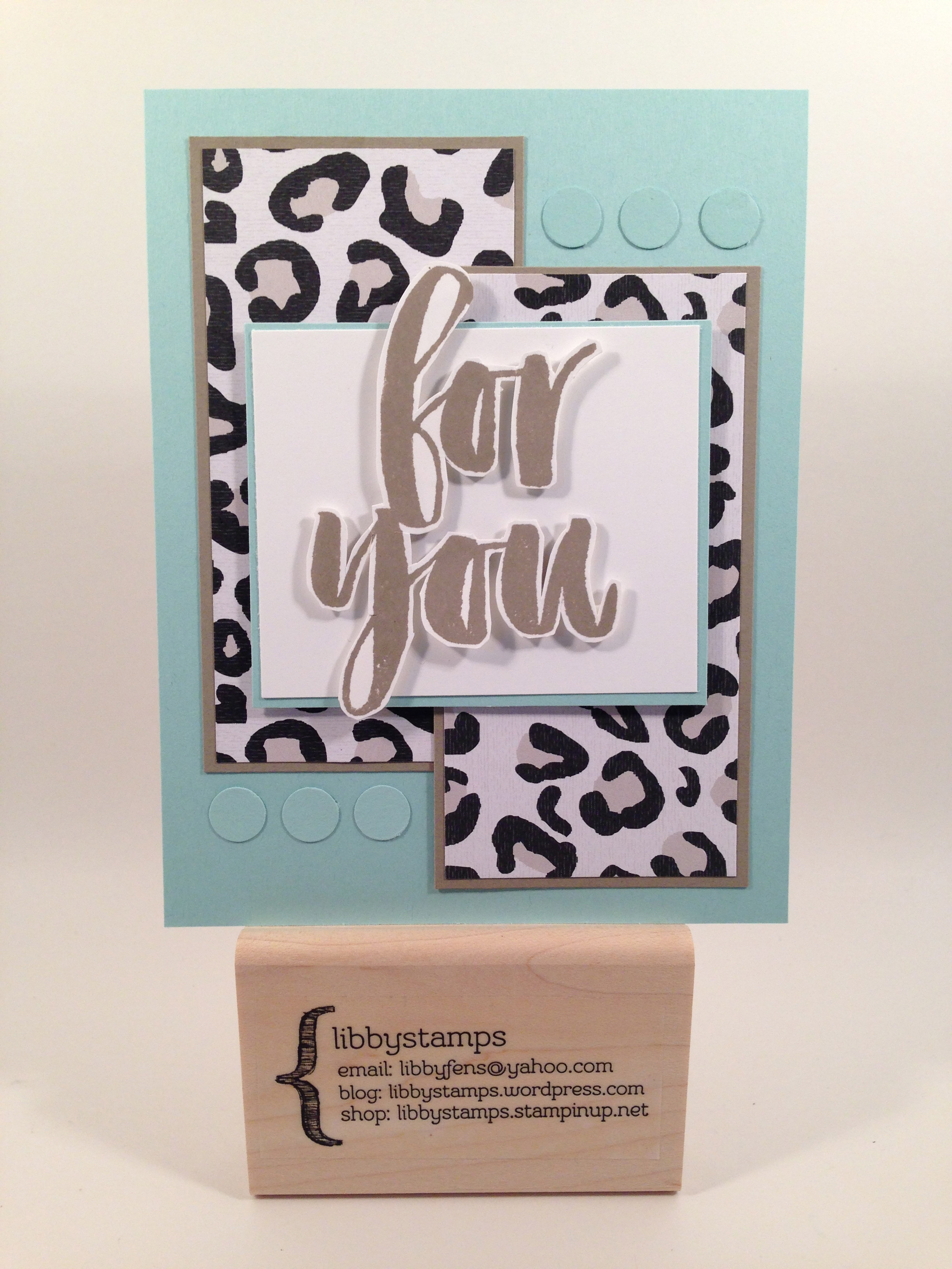 libbystamps, Stampin Up, Botanicals For You, Go Wild DSP Stack, 1/2 Circle Punch, Sale-a-Bration 2016, TSOT