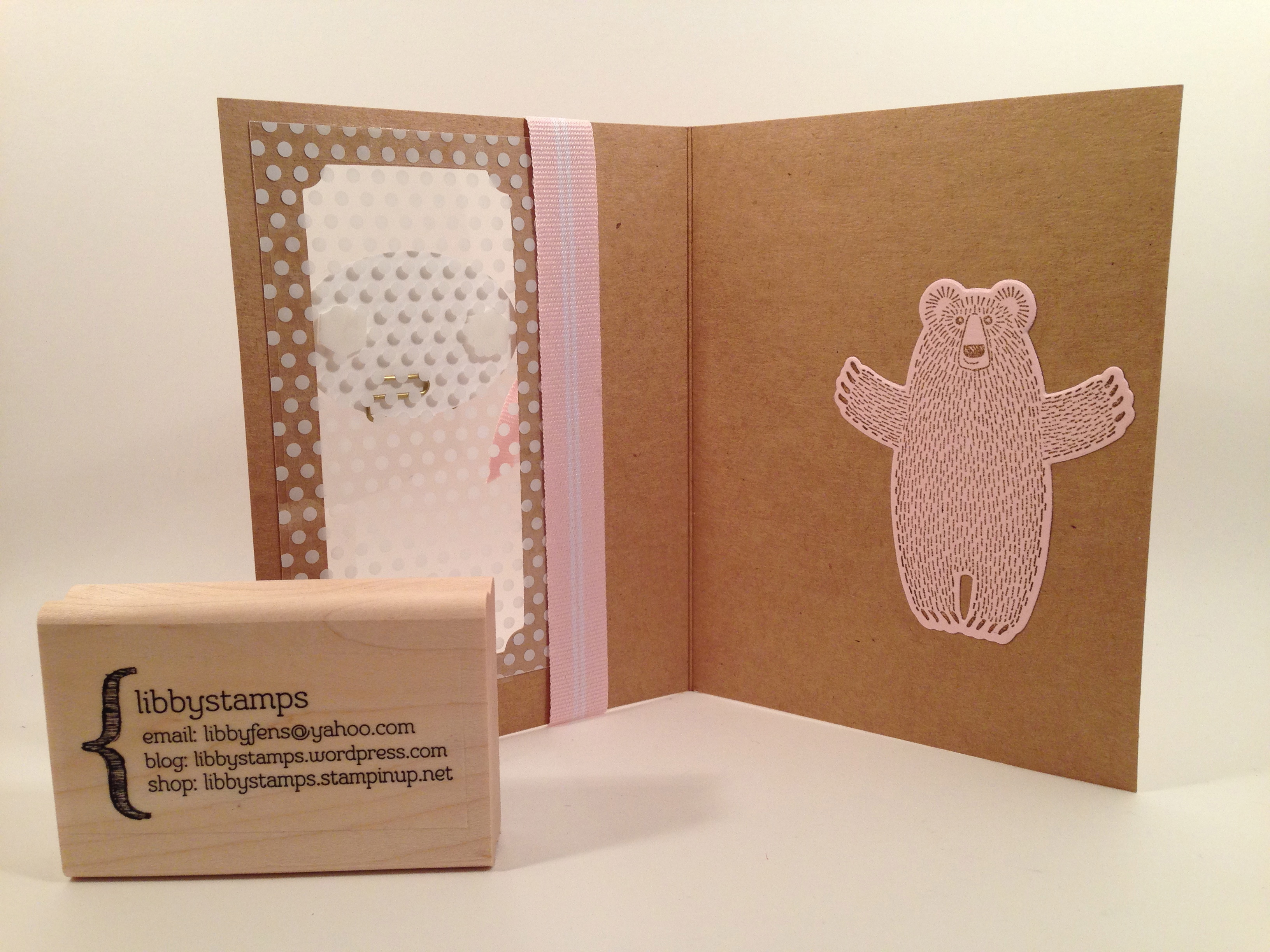 libbystamps, stampin up, Suite Sayings, Bear Hugs Framelits, Bear Hugs, Tin of  Cards, Bow Paper Clips