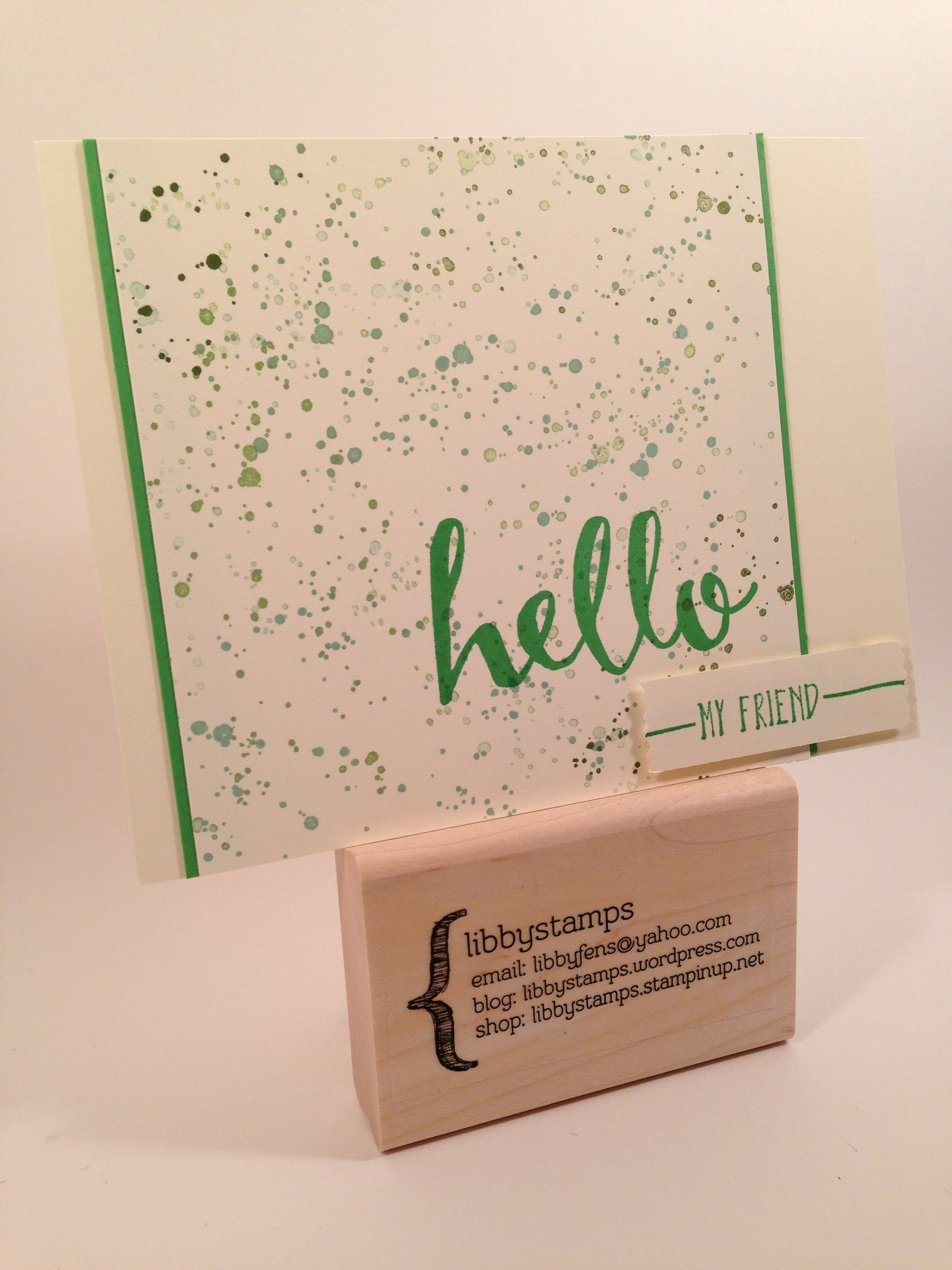 libbystamps, stampin up, Hello, WWC59,