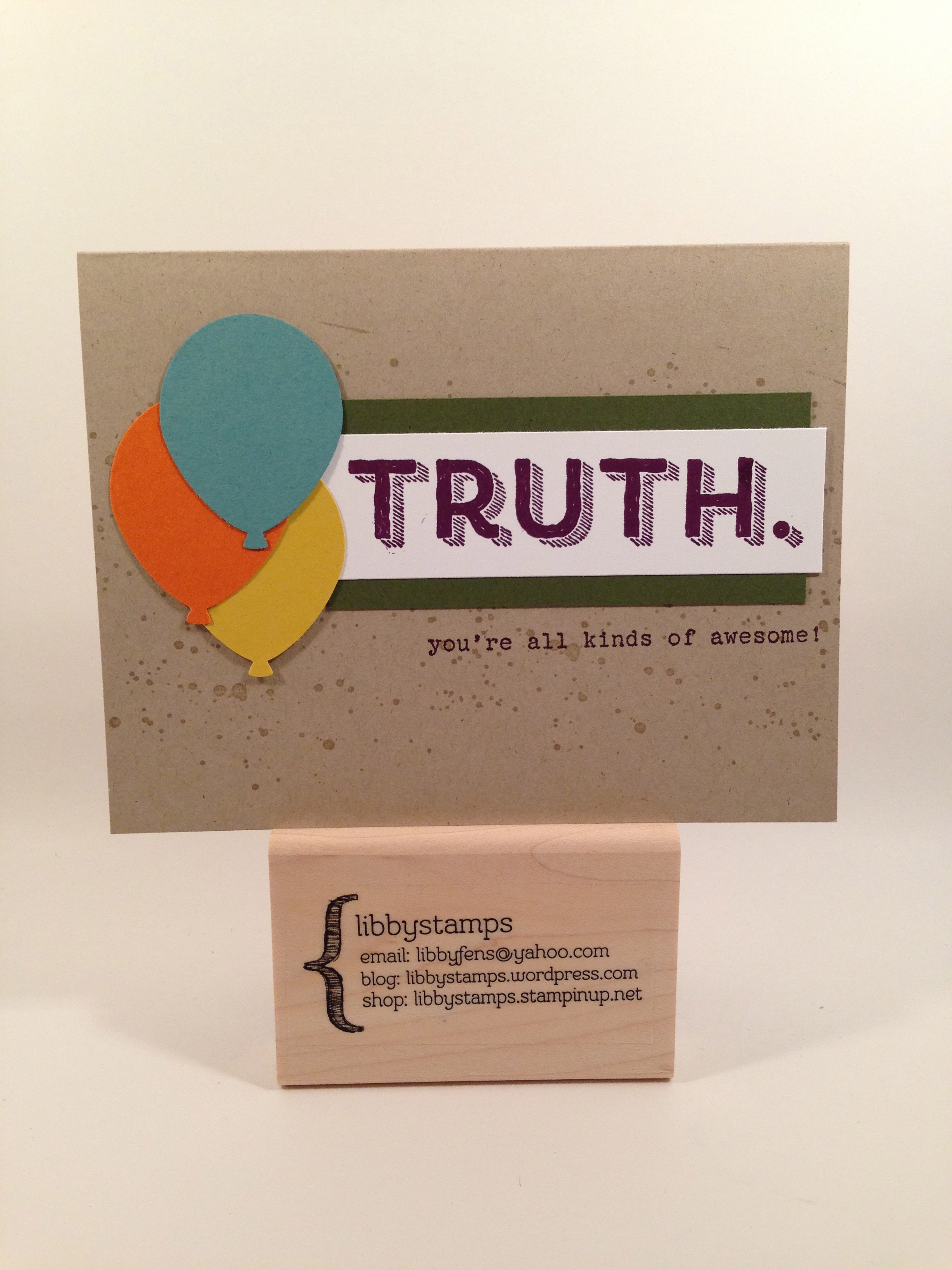 libbystamps, stampin up, Word of Truth, Gorgeous Grunge Stamp Set, Balloon Bouquet Punch, 2014-2016 In Color,