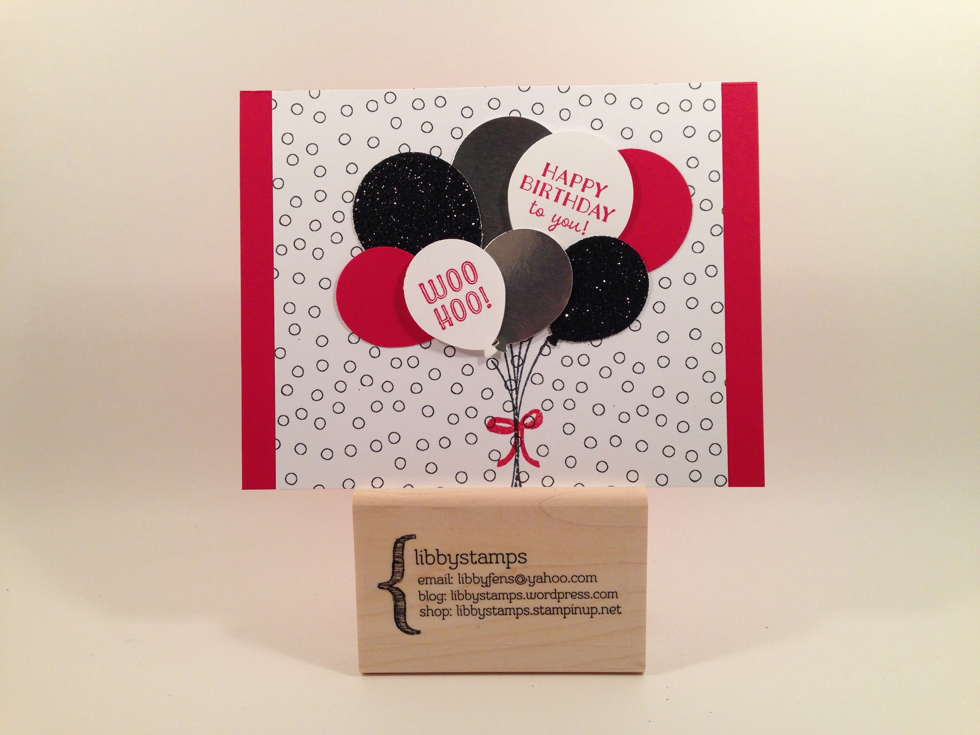 libbystamps, stampin up, Balloon Bouquet Punch, Party Pants, Sale-a-Bration 2016, WCW61