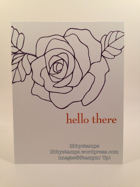 libbystamps, stampin up, WWC64, Happy Day, Rose Wonder, CAS