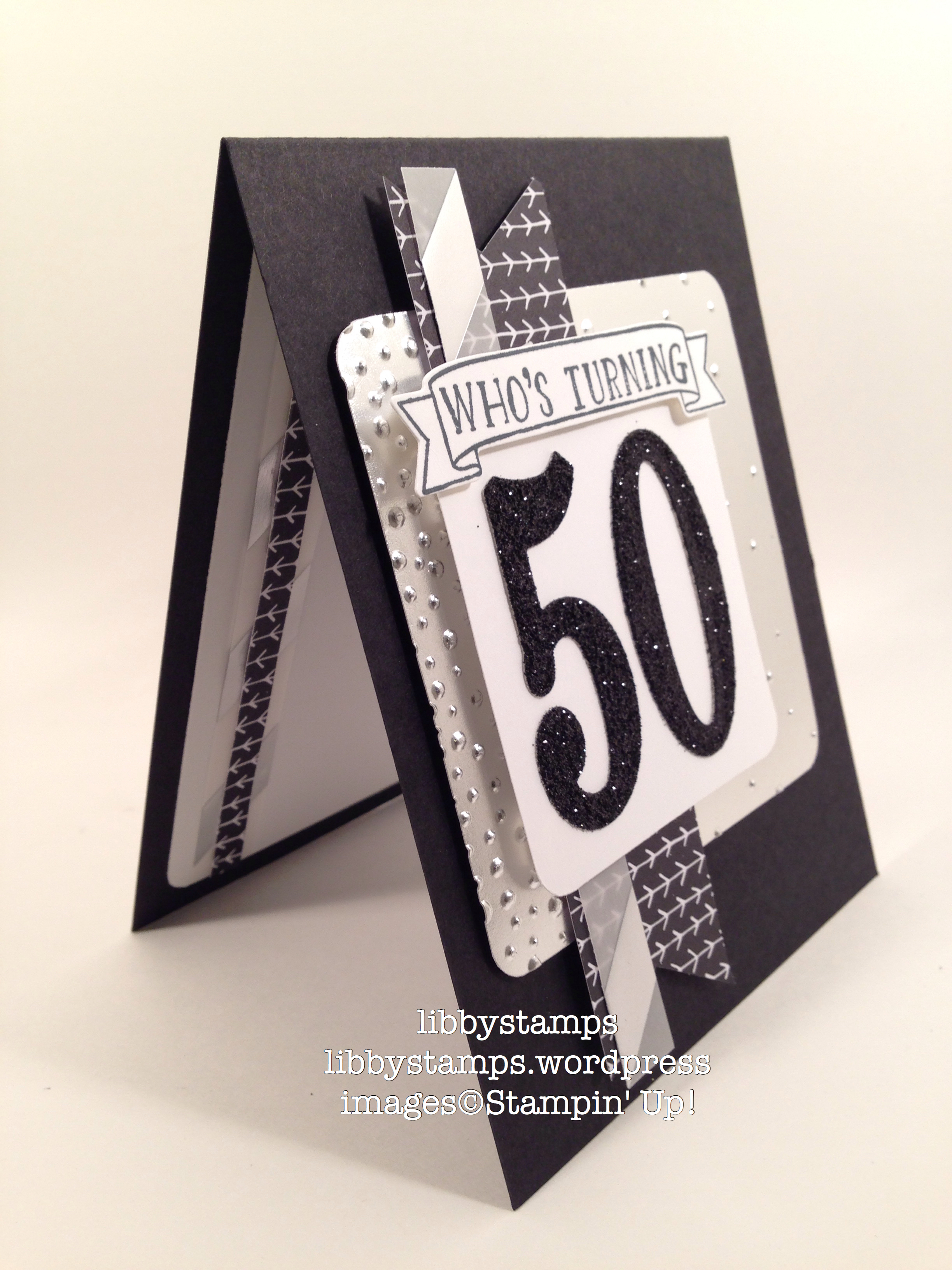 libbystamps, stampin' up, Number of Years, Large Numbers Framelits, It's My Party DSP, Silver Fancy Foil Vellum, Softy Falling Embossing Folder, CCMC401