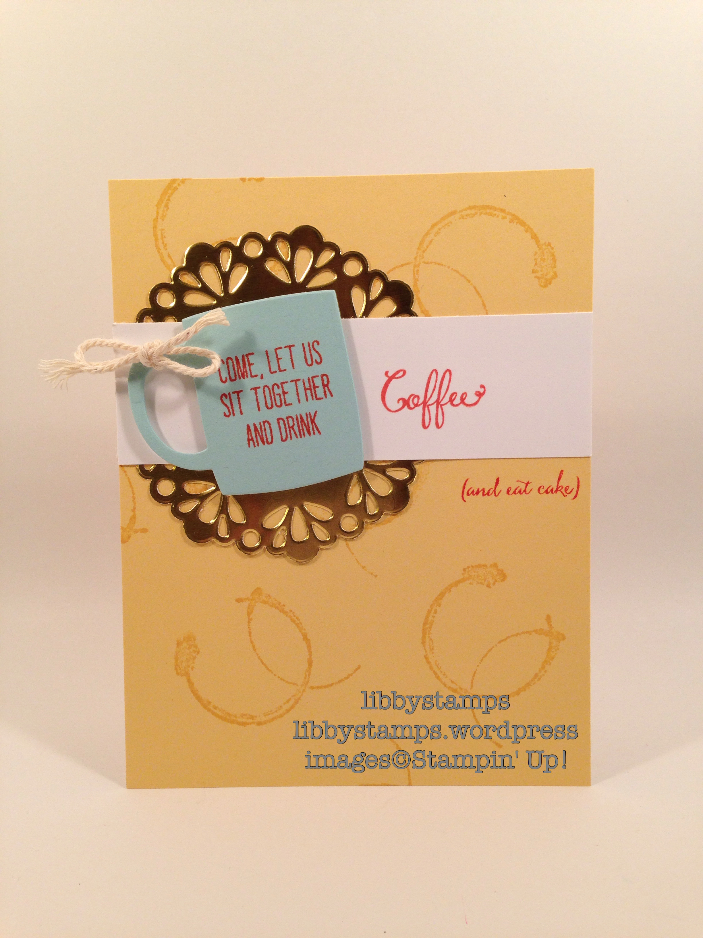 libbystamps, stampin up, Balloon Celebration, Timeless Textures, Cups & Kettle Framelits, Metallic Foil Doilies, FabFri84, GDP030
