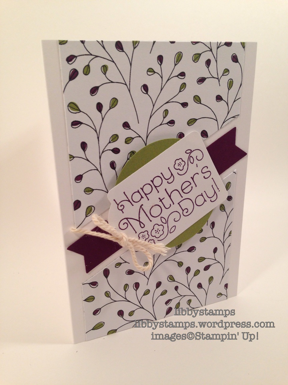 libbystamps, stampin up, Lovely Little Wreath, Wildflower Fields DSP, Sale-a-Bration 2016, Note tag Punch, Mother's Day