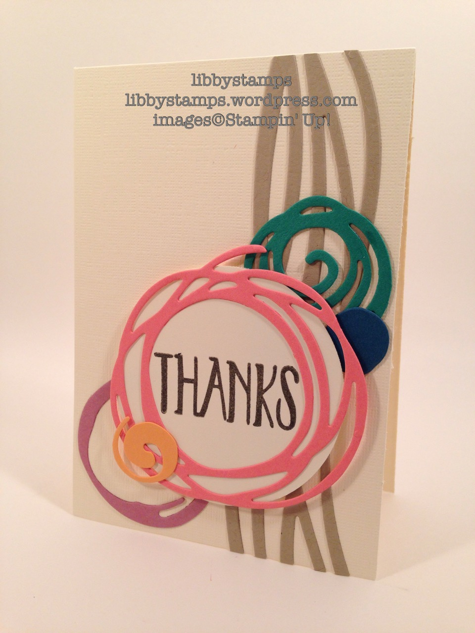 libbystamps, stampin up, Perfectly Wrapped, Swirly Scribbles Thinlits, BFBH, Blogging Friends Blog Hop, 2016-2018 In-Color