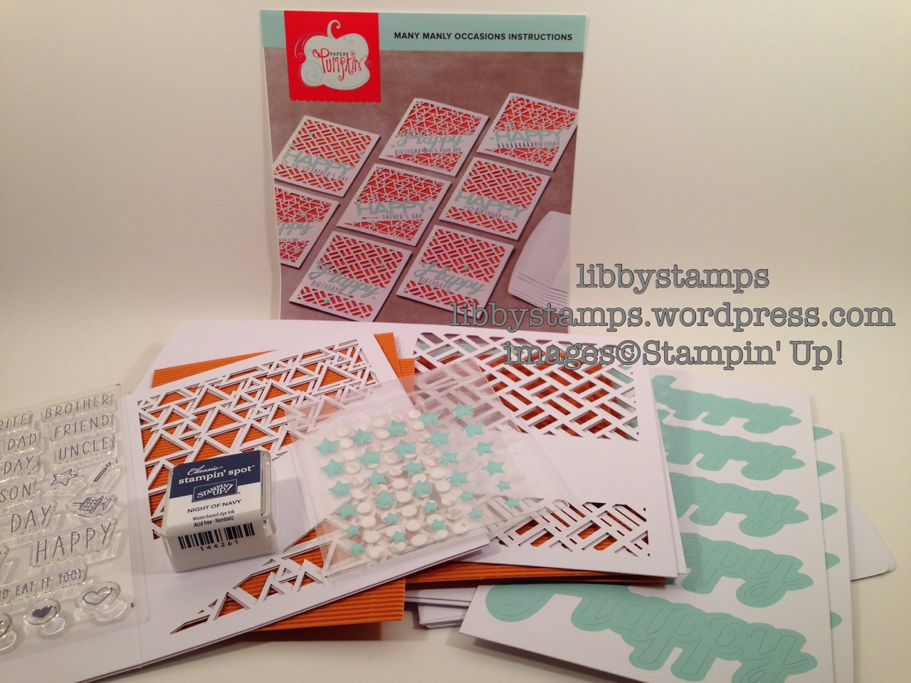 libbystamps, stampin up, Many Manly Occasions, May Paper Pumpkin