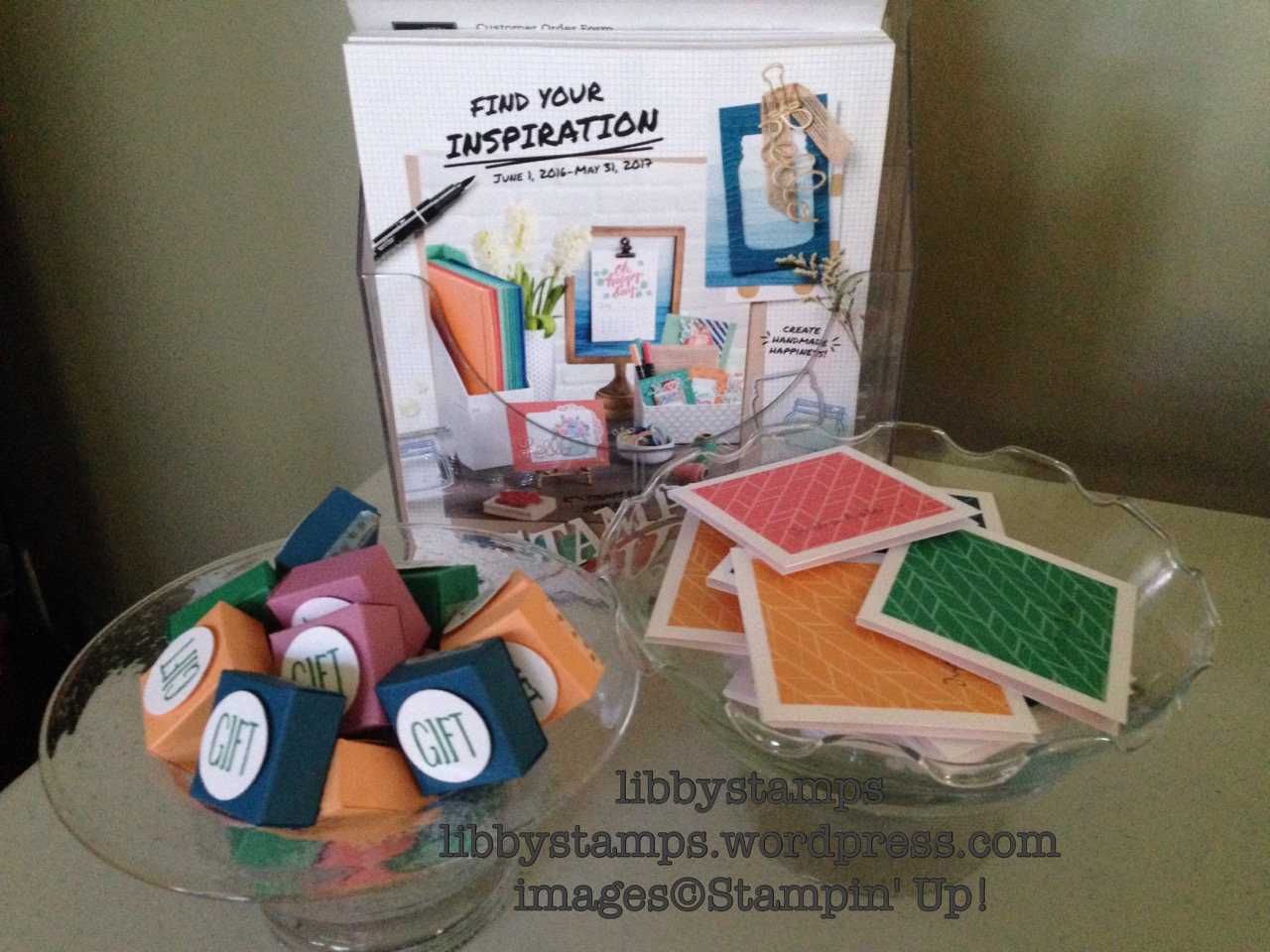 libbystamps, stampin up, Open House, party favors, 2016-2018 In-Colors, Post-it Note, Ink Spots