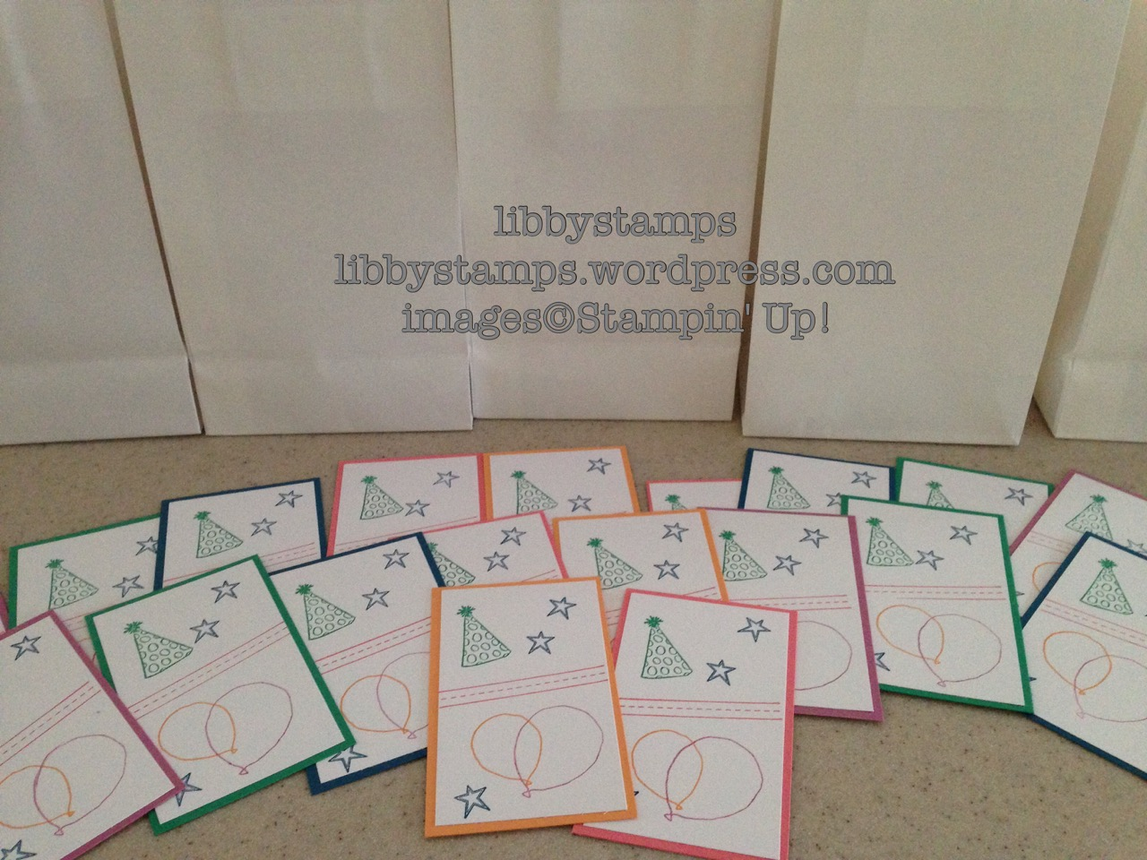 libbystamps, stampin up, Open House, catalog fun, treat bags, goody bags