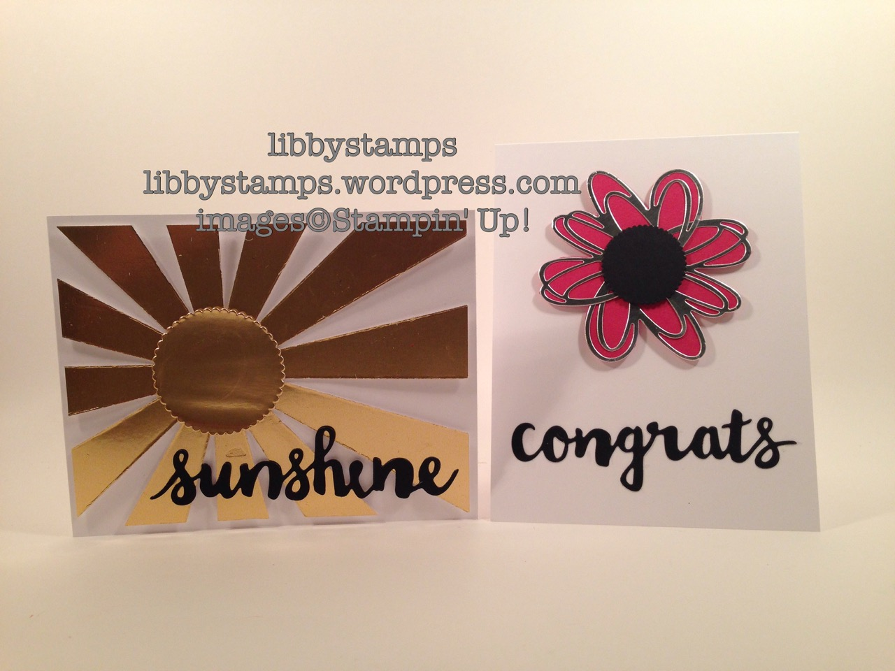 libbystamps, stampin up, Layering Circles Framelits, Sunshine Wishes Thinlits, Gold Foil, Silver Foil, BFBH, Sunburst Thinlits, summer