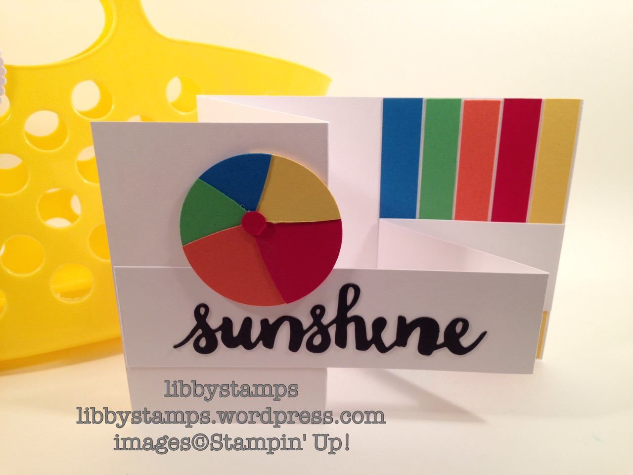 libbystamps, stampin up, Layering Circles Framelits, Sunshine Wishes Thinlits, beach ball, Beach Party