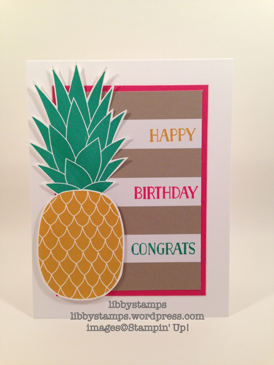 libbystamps, stampin up, Pineapple, Tin of Cards, Banner Surprise Paper Pumpkin, Simple Saturday