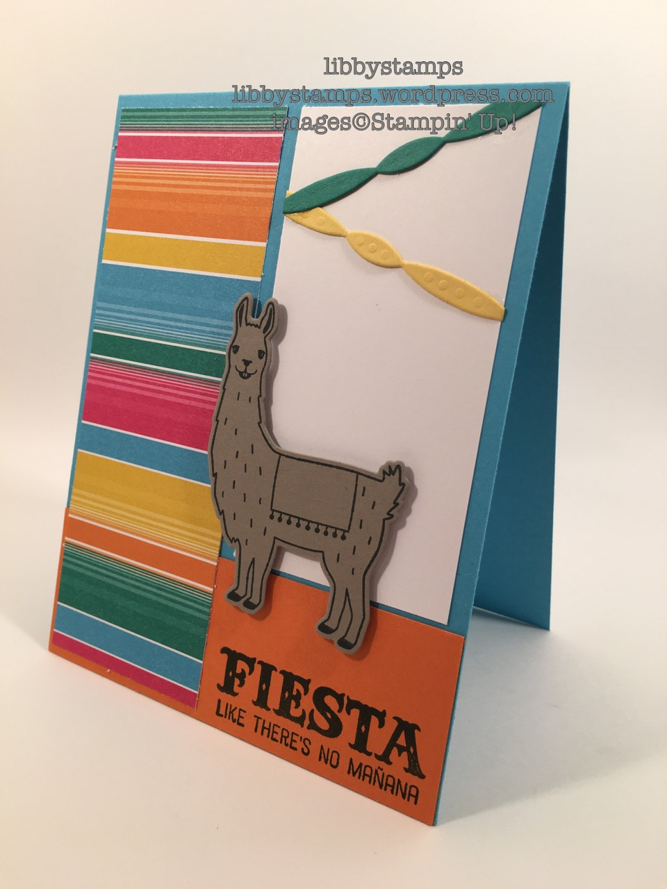 libbystamps, stampin up, Birthday Fiesta, Fiesta Time Framelits, Simple Saturday,