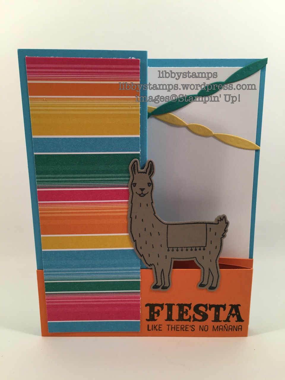 libbystamps, stampin up, Birthday Fiesta, Fiesta Time Framelits, Stepped Up Sunday