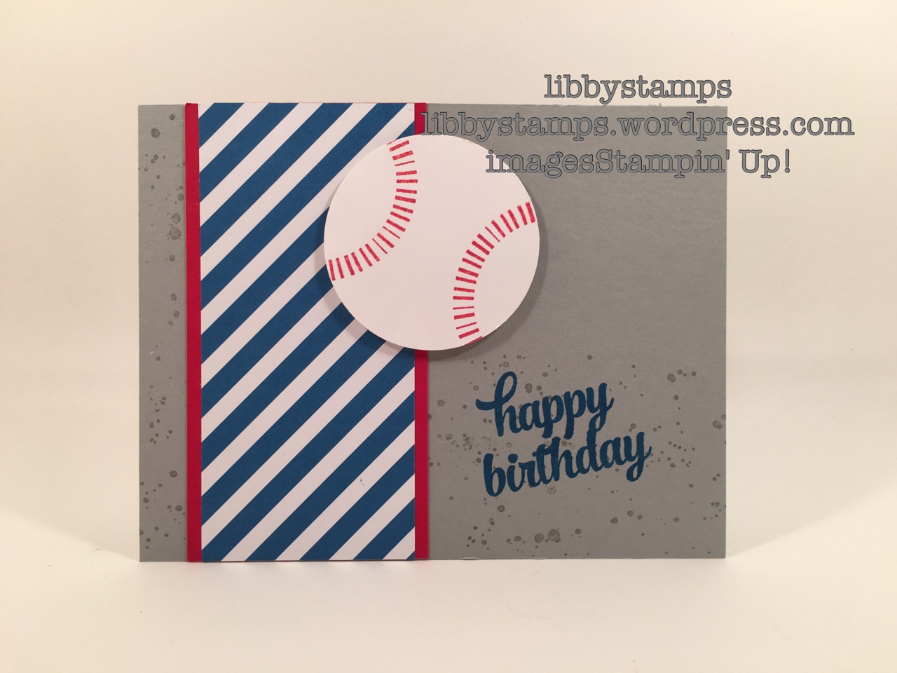 libbystamps, stampin up, Tin of Cards, Baseball, Brights DSP Paper Stack, WWC78, Banner Surprise Paper Pumpkin,