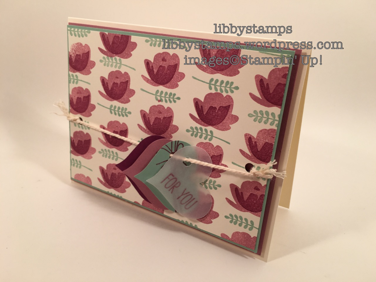 libbystamps, stampin up, Jar of Love, CCMC418, Sweetheart Punch