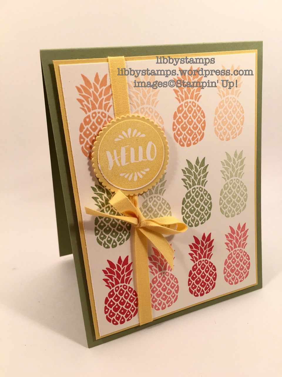 libbystamps, stampin up, Layering Circles Framelits, pineapples, Pop of Paradise, WWC81
