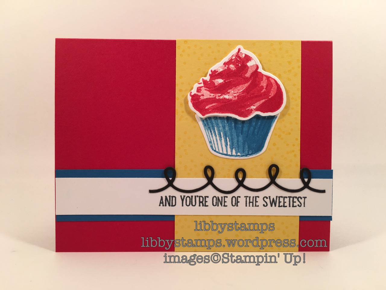 libbystamps, stampin up, Sweet Cupcake, Cupcake Cutouts Framelits, FMS249, PP308