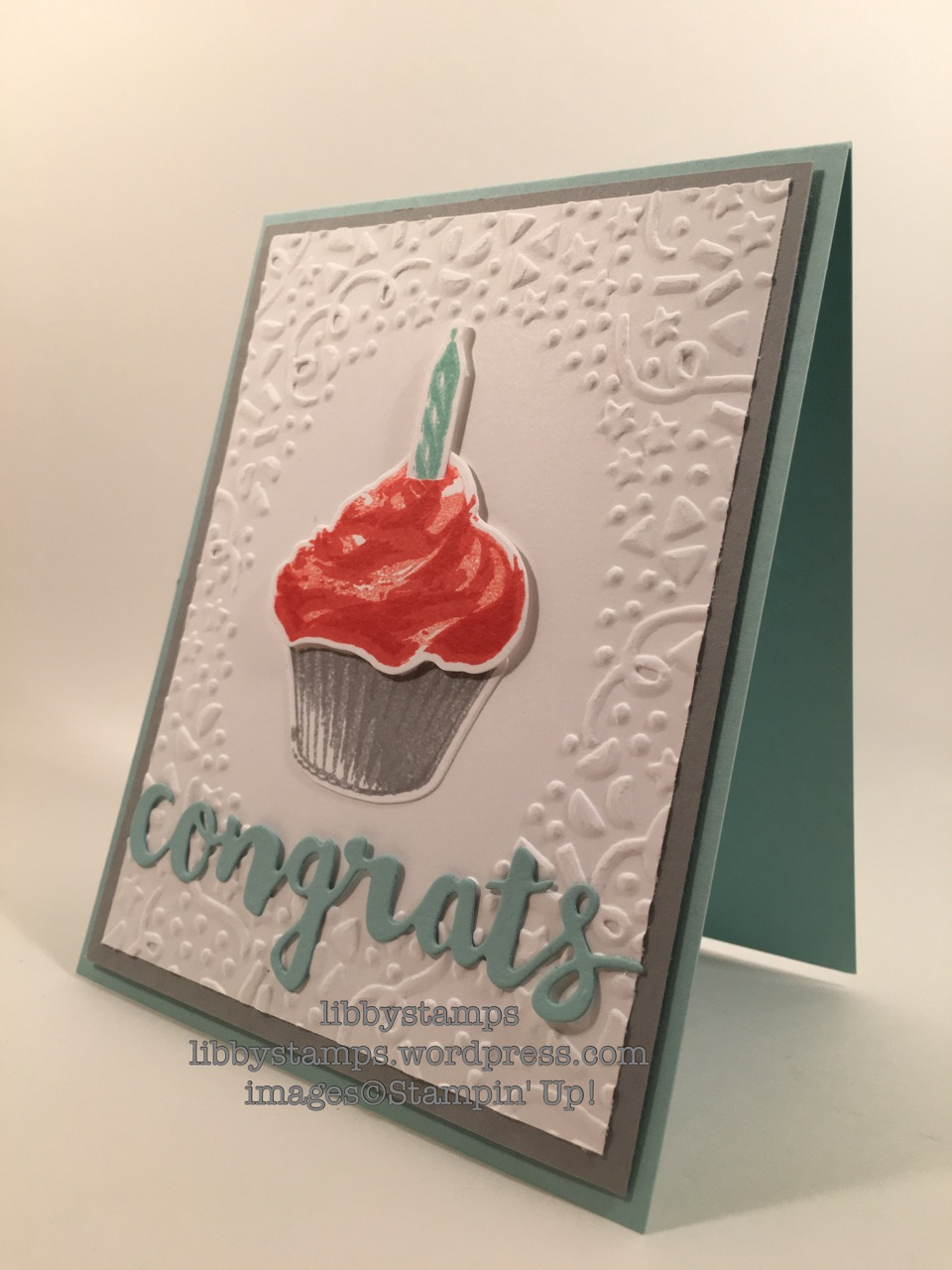 libbystamps, stampin up, Sunshine Wishes Thinlits, Confetti EF, Sweet Cupcake, Cupcake Cutouts Framelits, CCMC