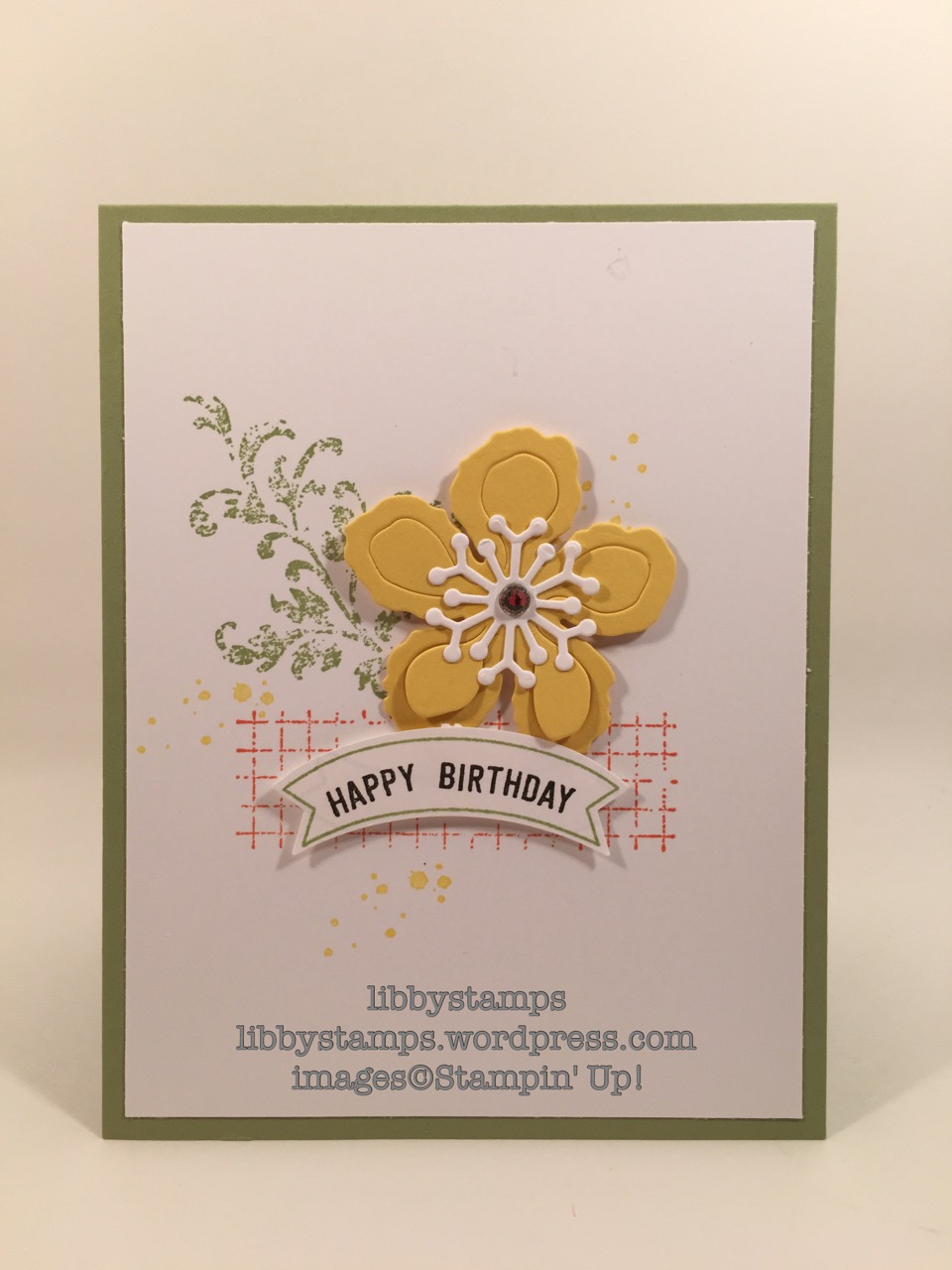 libbystamps, stampin up, Timeless Textures, Thoughtful Banners, Botanical Builder Framelits, Duet Punch, Stepped Up Sunday