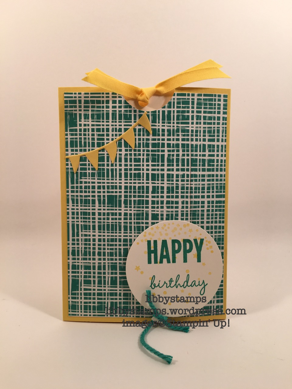 libbystamps, stampin up, Celebrate Today, Playful Palette, Balloon Framelits, WWC, Slider Card
