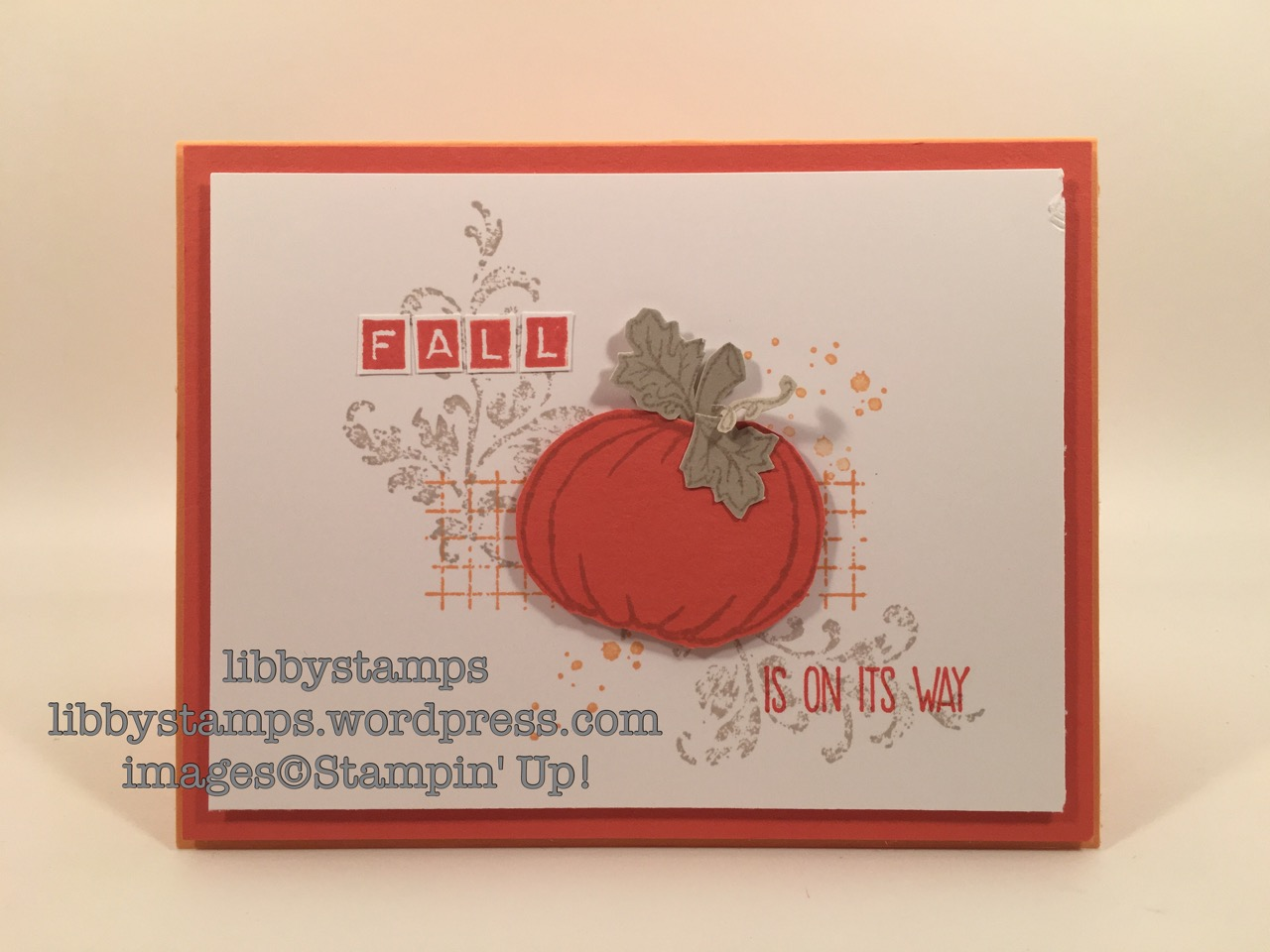 libbystamps, stampin up, Sunshine Sayings, Jar of Haunts, Timeless Textures, CCMC422, fall card