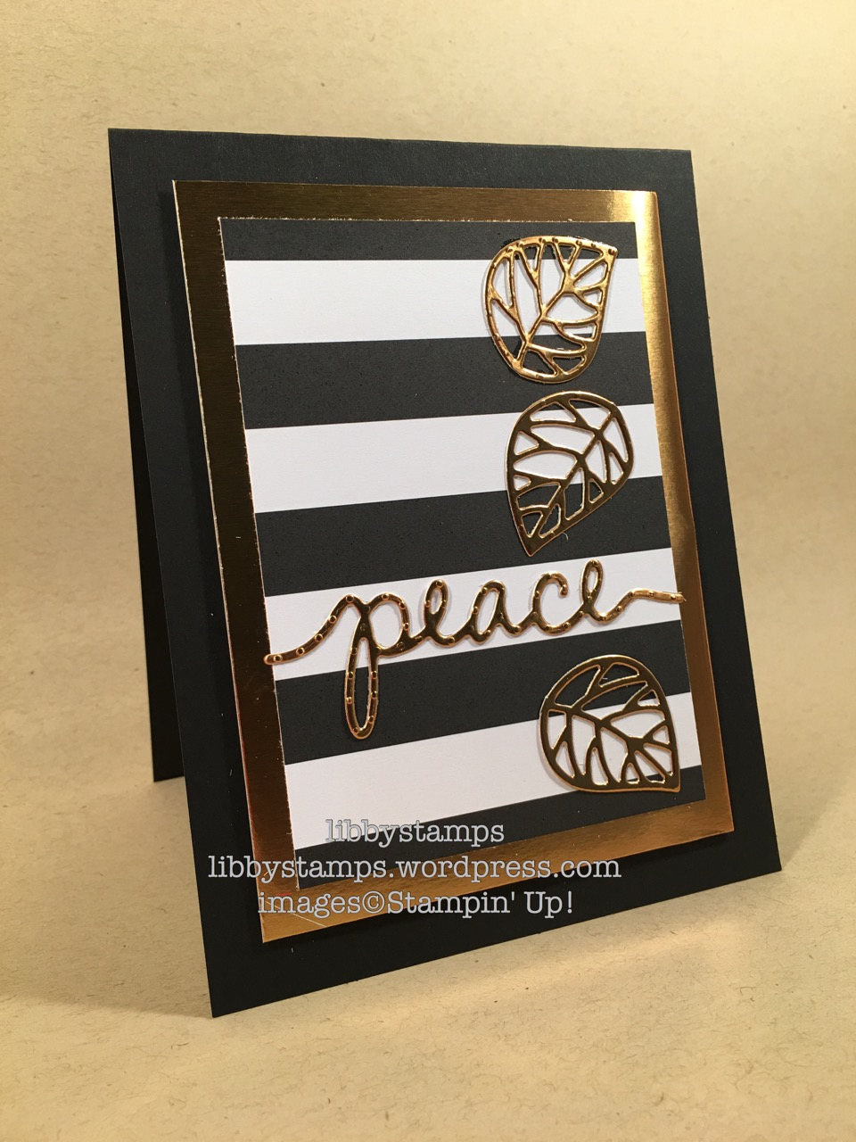 libbystamps, stampin up, Beautiful Branches, Christmas Thinlits, WWC, Copper Foil