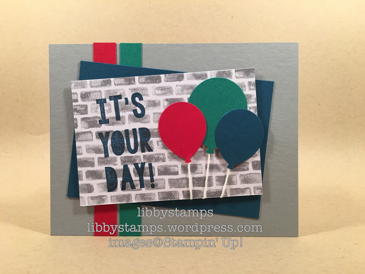 libbystamps, stampin up, Party with Cake, Balloon Bouquet Punch, Halloween Night Specialty DSP, masculine card, stepped up Sunday