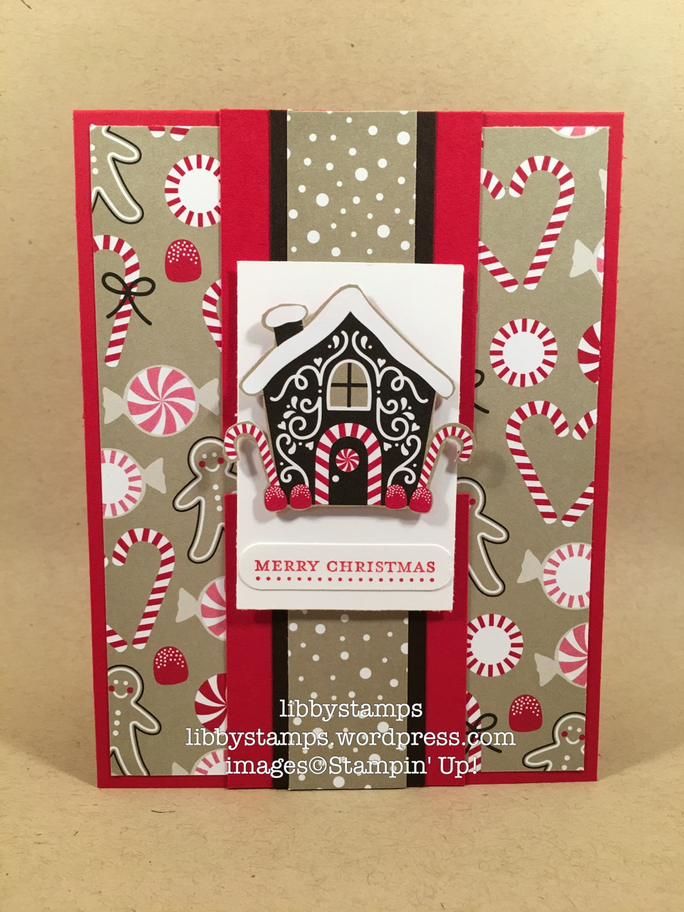 libbystamps, stampin up, TSOT, Candy Cane Lane DSP, Word Window Punch, Teeny Tiny Wishes