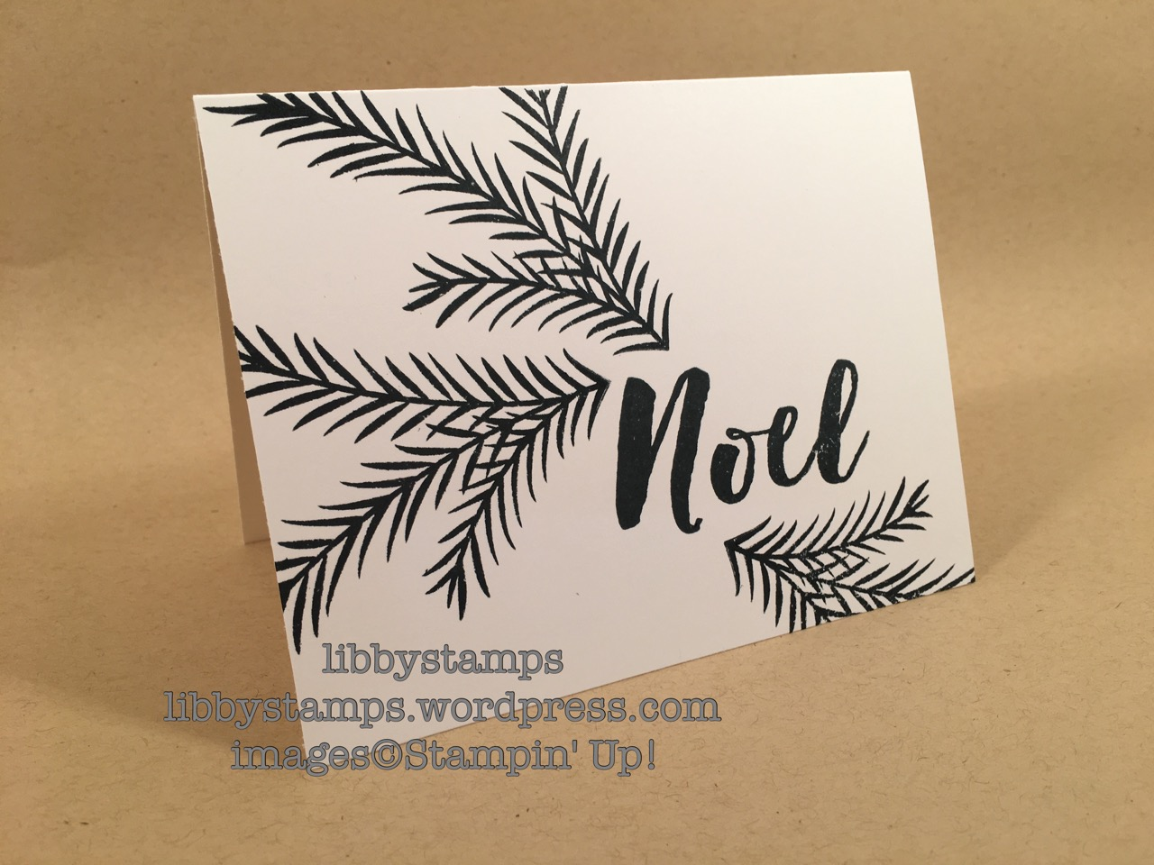 libbystamps, stampin up, Christmas Pines, Black on White, Christmas, WWC90