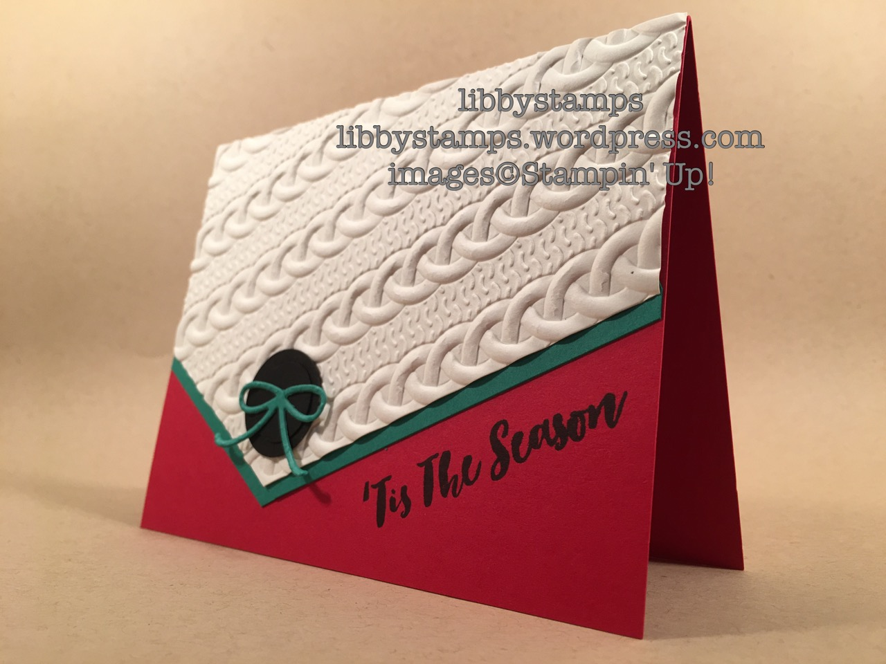 libbystamps, stampin up, Christmas Pines, Mini Treat Bag Thinlits, Cable Knit Dynamic EF, swaps