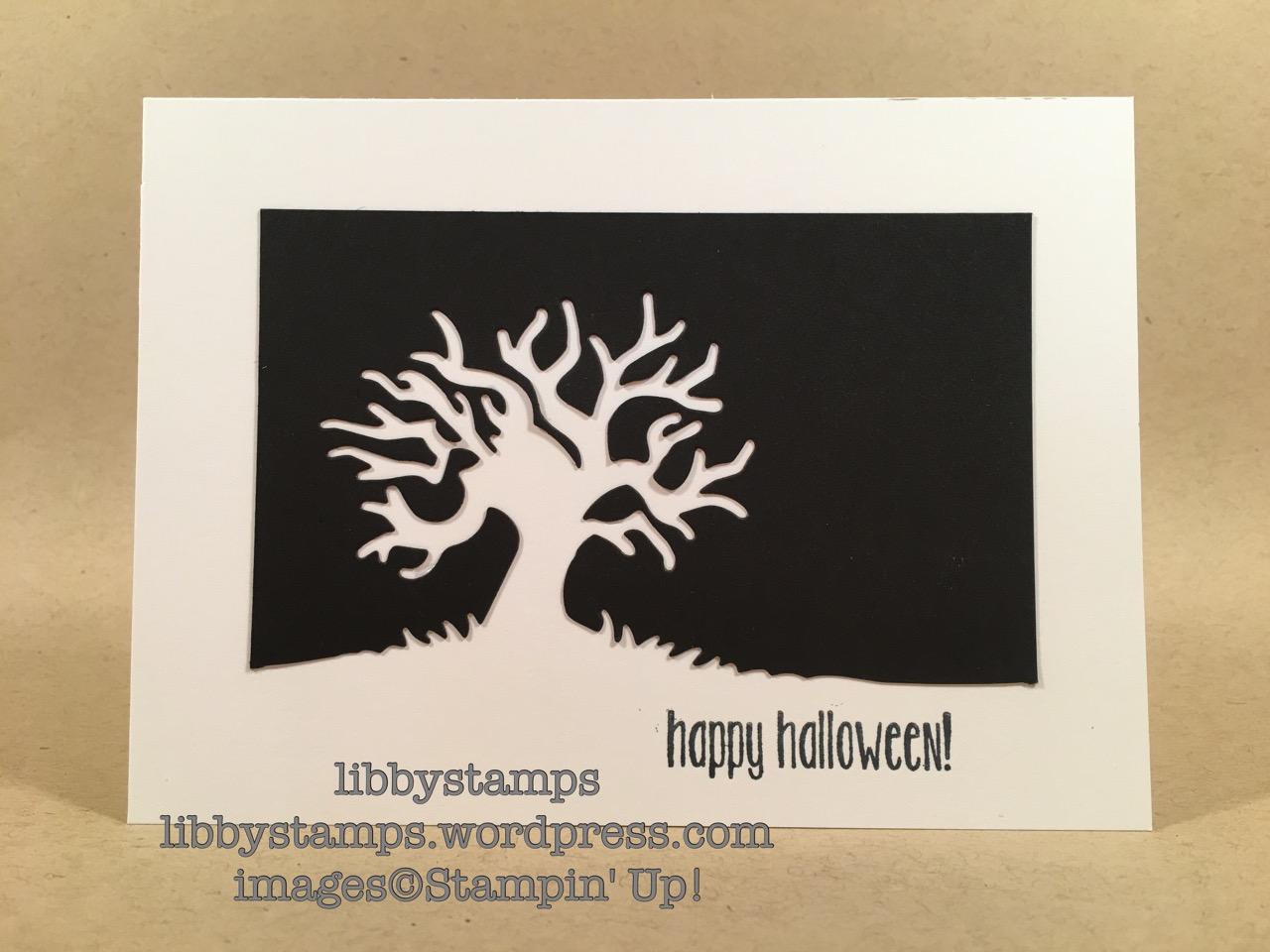 libbystamps, stampin up, Spooky Fun, Halloween Scenes Edgelits