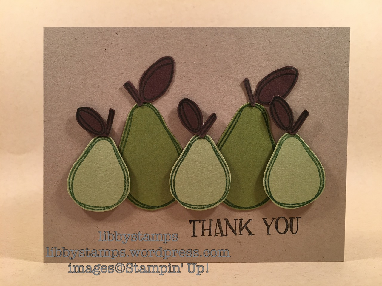 libbystamps, stampin up, Fresh Fruit, pear, CCMC431, thank you