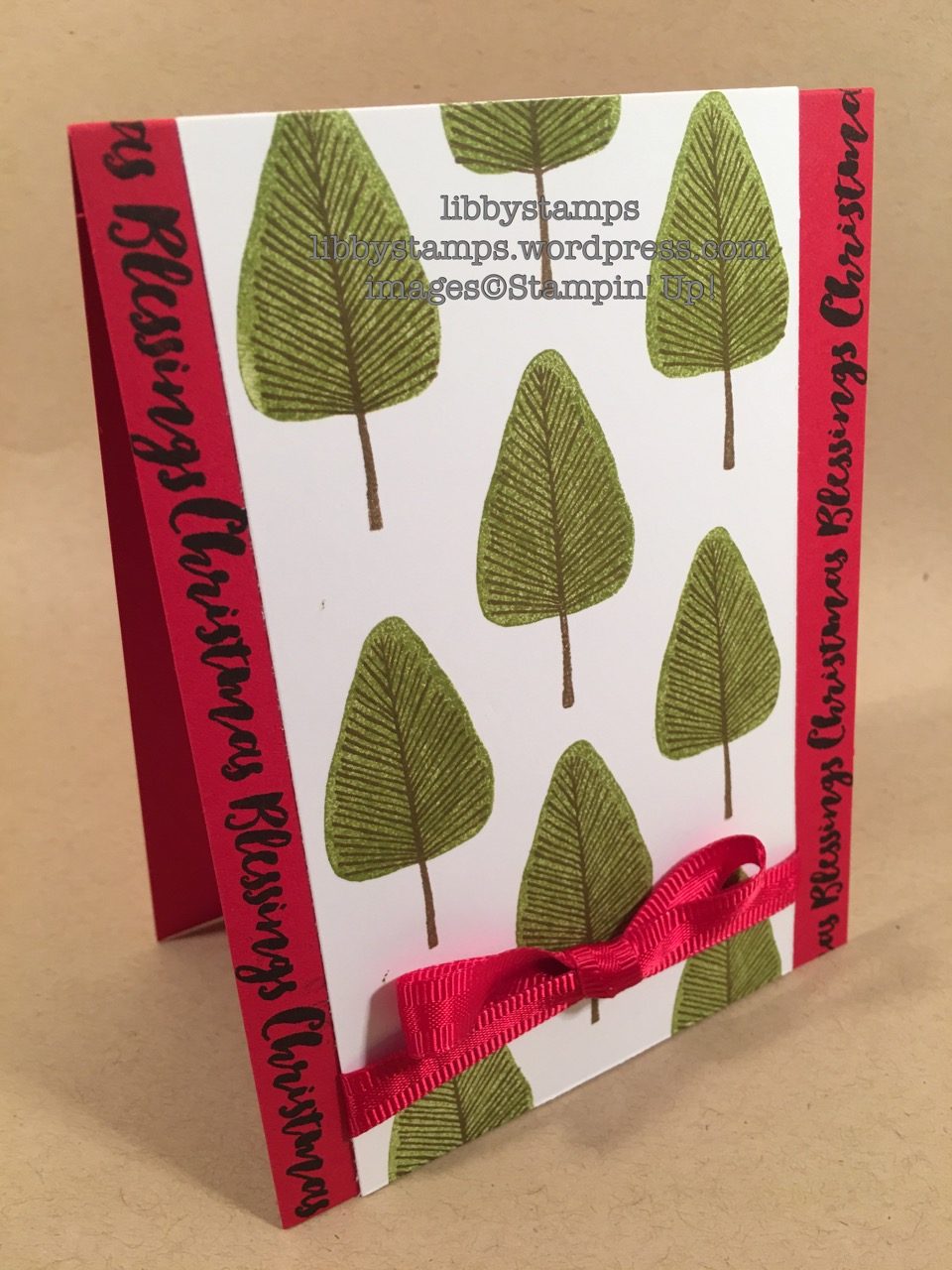 libbystamps, stampin up, WWC93, Totally Trees, Christmas Pines, Christmas Card