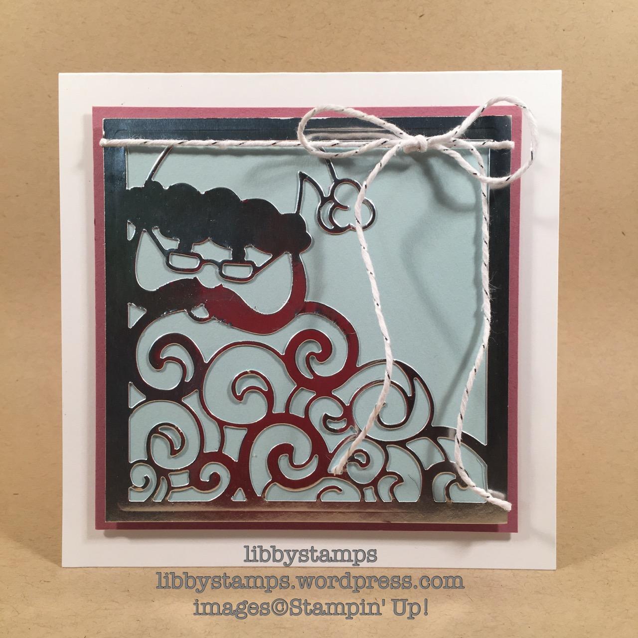 libbystamps, stampin up, Detailed Santa Thinlits, santa, CCMC436