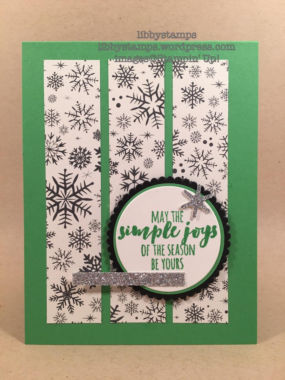 libbystamps, stampin up, Christmas Pines, Botanical Builder Framelits, Layering Circles Framelits, This Christmas DSP, TSOT#301, Christmas
